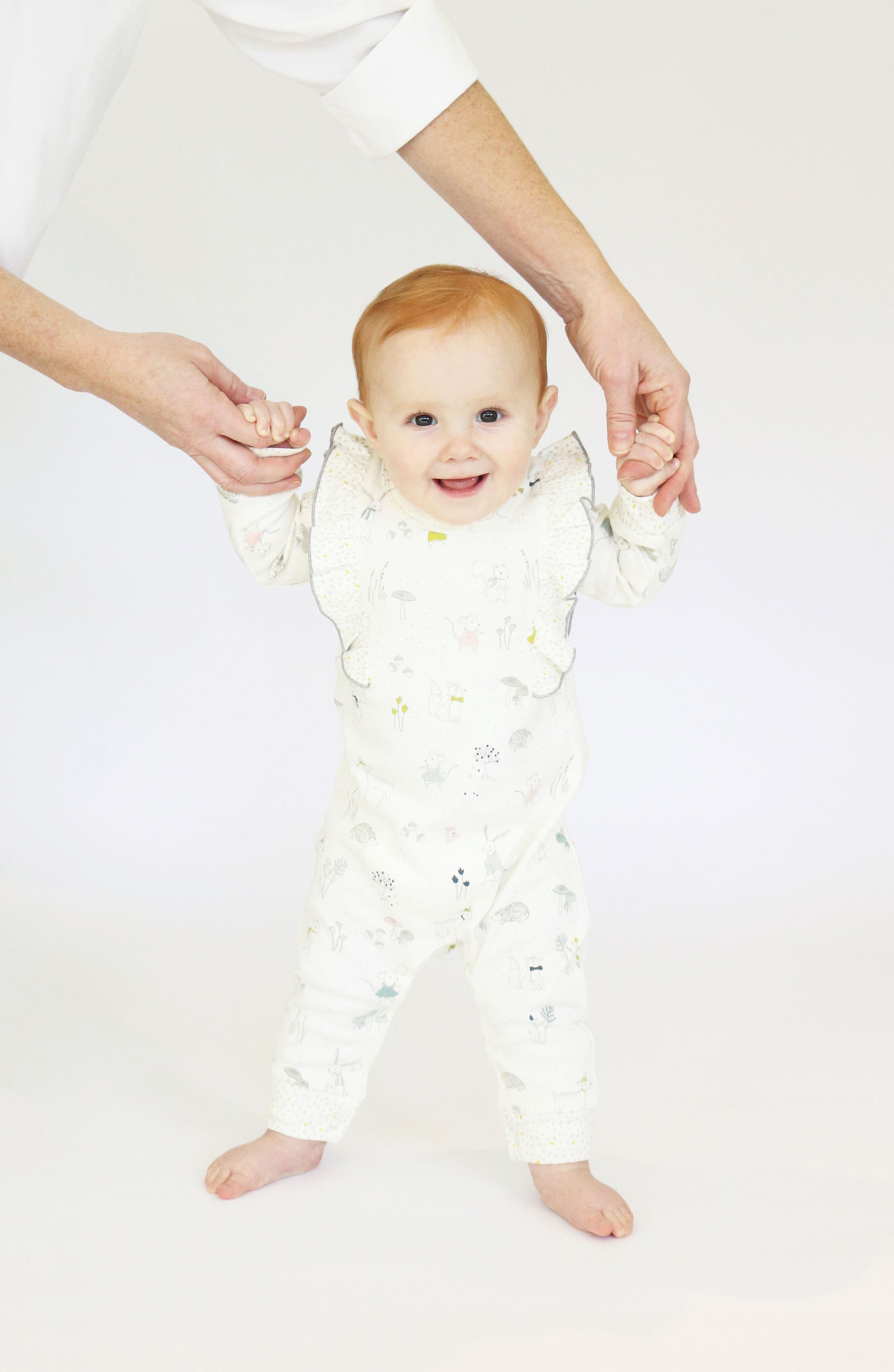 Magical Forest Romper,                             Alternate thumbnail 3, color,                             Ivory