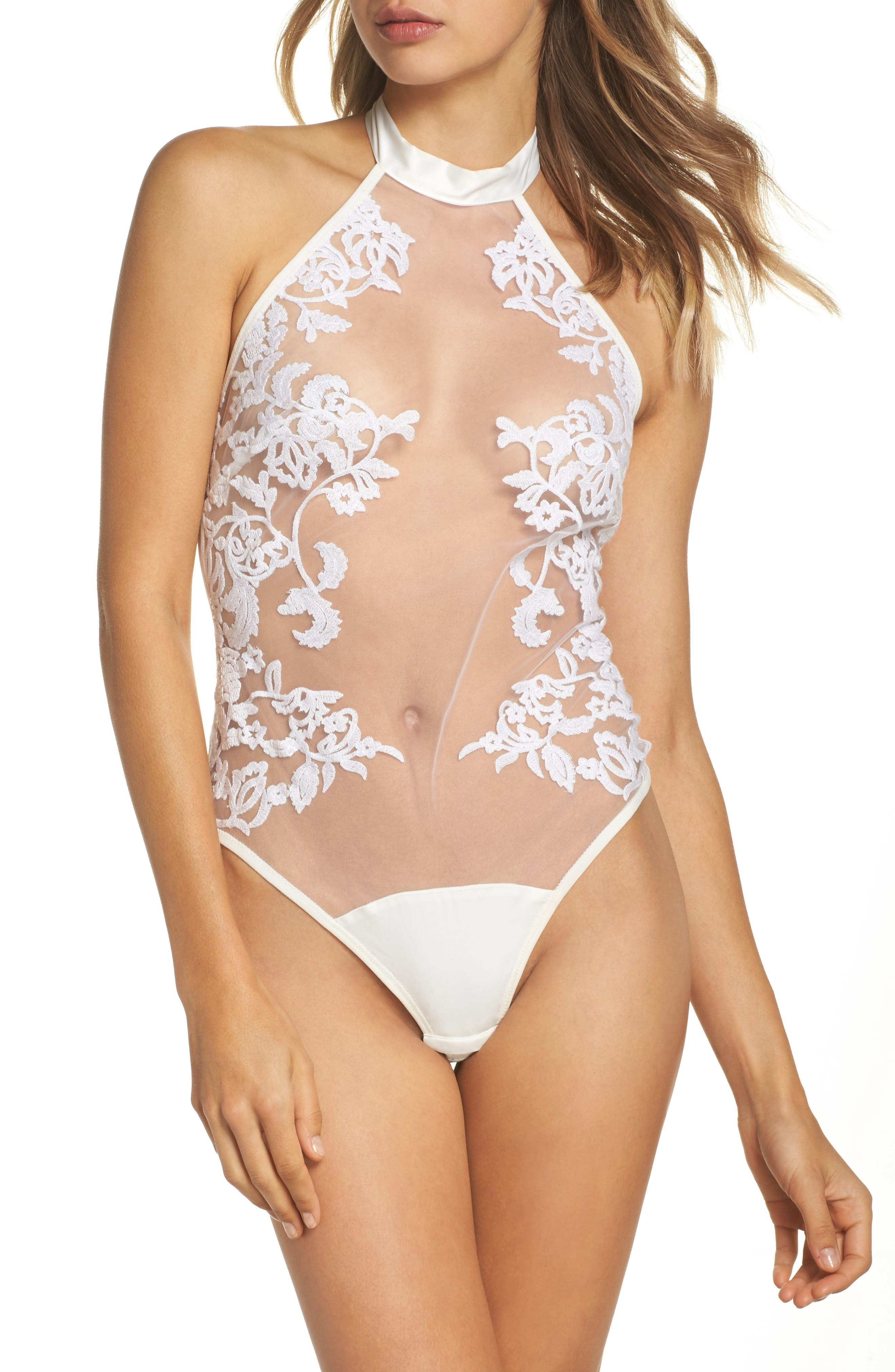 Thistle & Spire Cornelia Bodysuit,                             Main thumbnail 1, color,                             Ivory