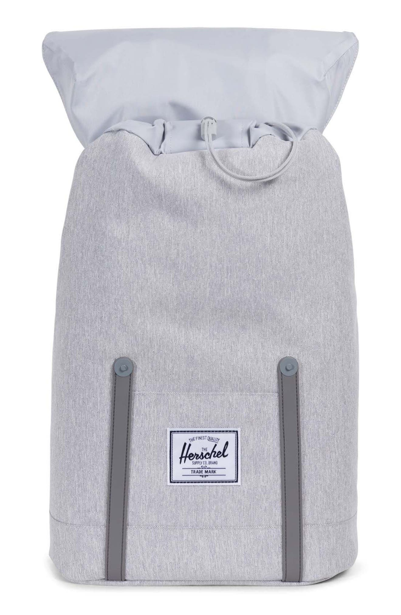 'Retreat' Backpack,                             Alternate thumbnail 3, color,                             Light Grey Crosshatch/ White