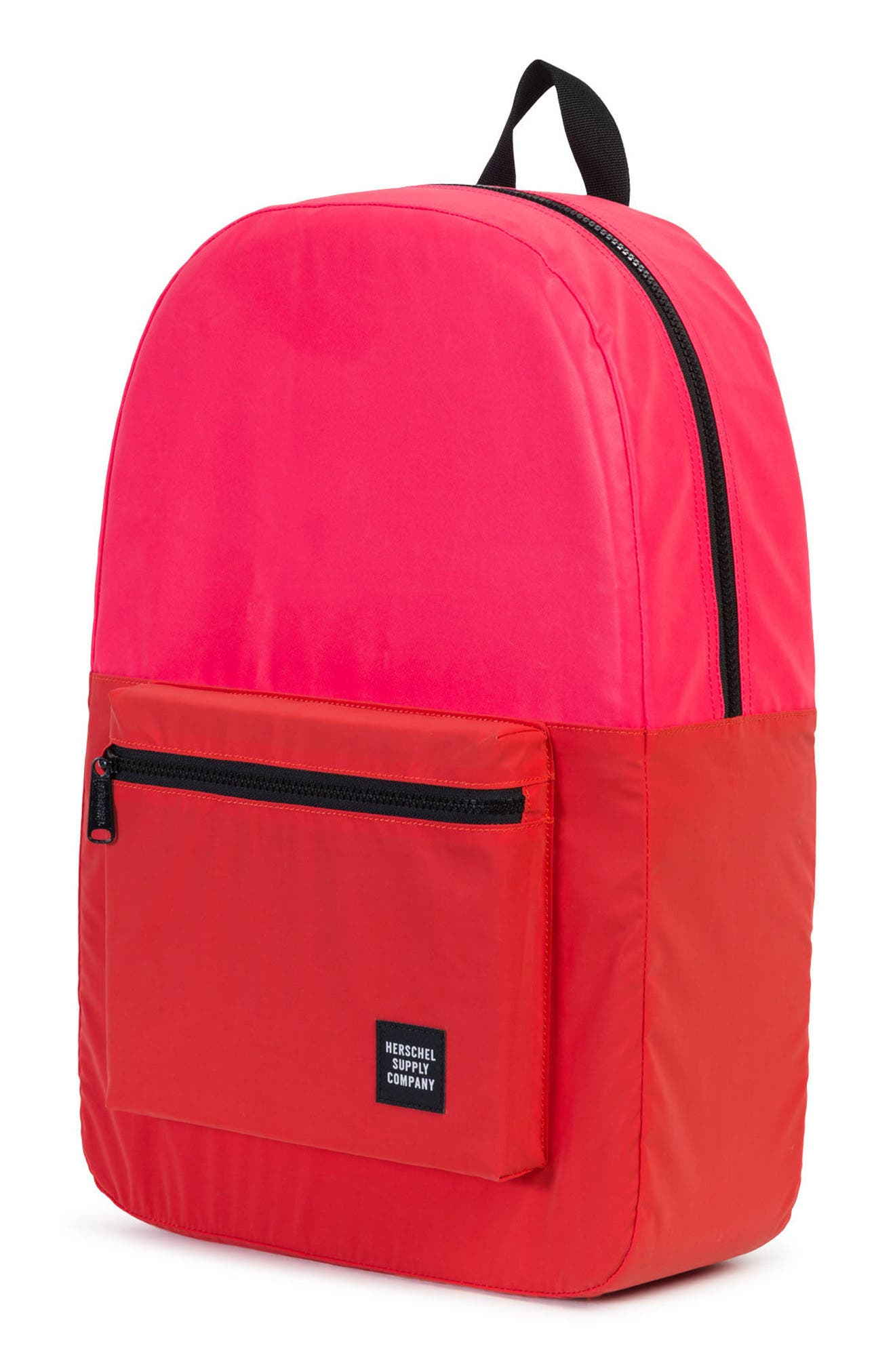 Heritage Reflective Backpack,                             Alternate thumbnail 2, color,                             Neon Pink Reflective/ Red