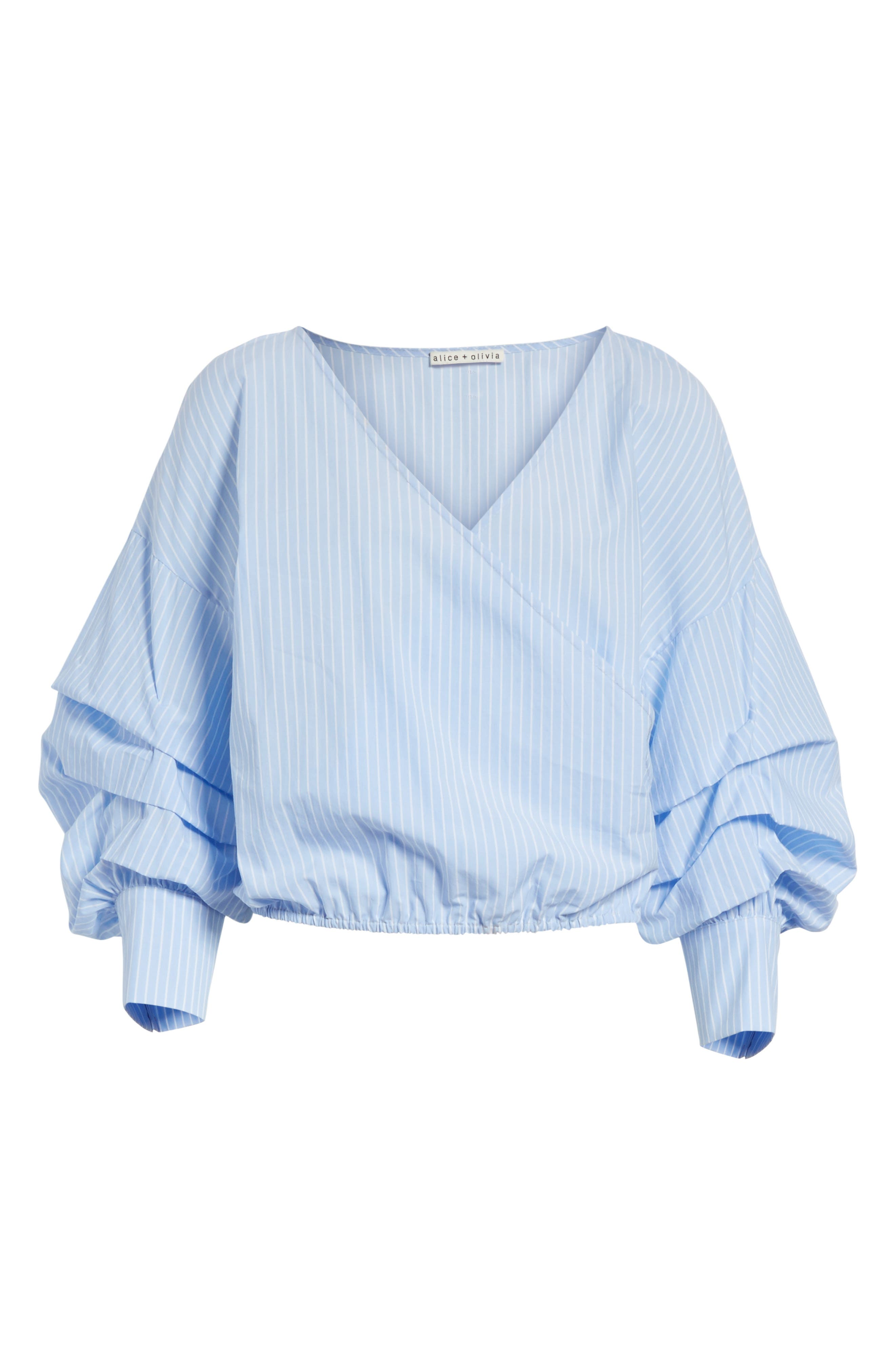 Alternate Image 6  - Alice + Olivia Braelyn Faux Wrap Top