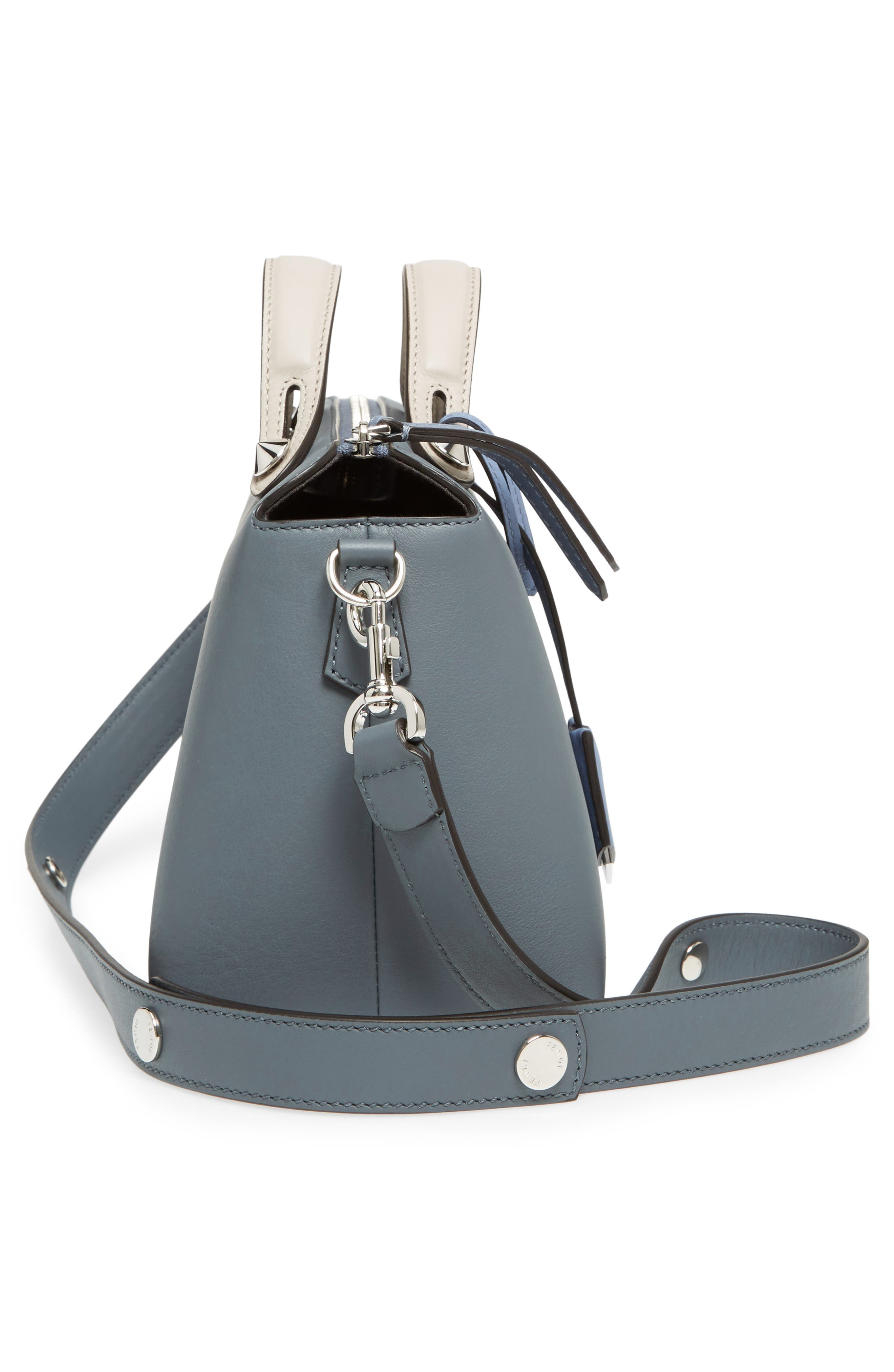 'Medium By the Way' Colorblock Leather Shoulder Bag,                             Alternate thumbnail 5, color,                             Blue