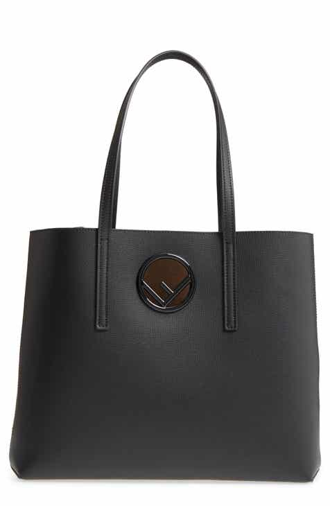 Fendi Logo Leather Shopper a0f70fa0abbad