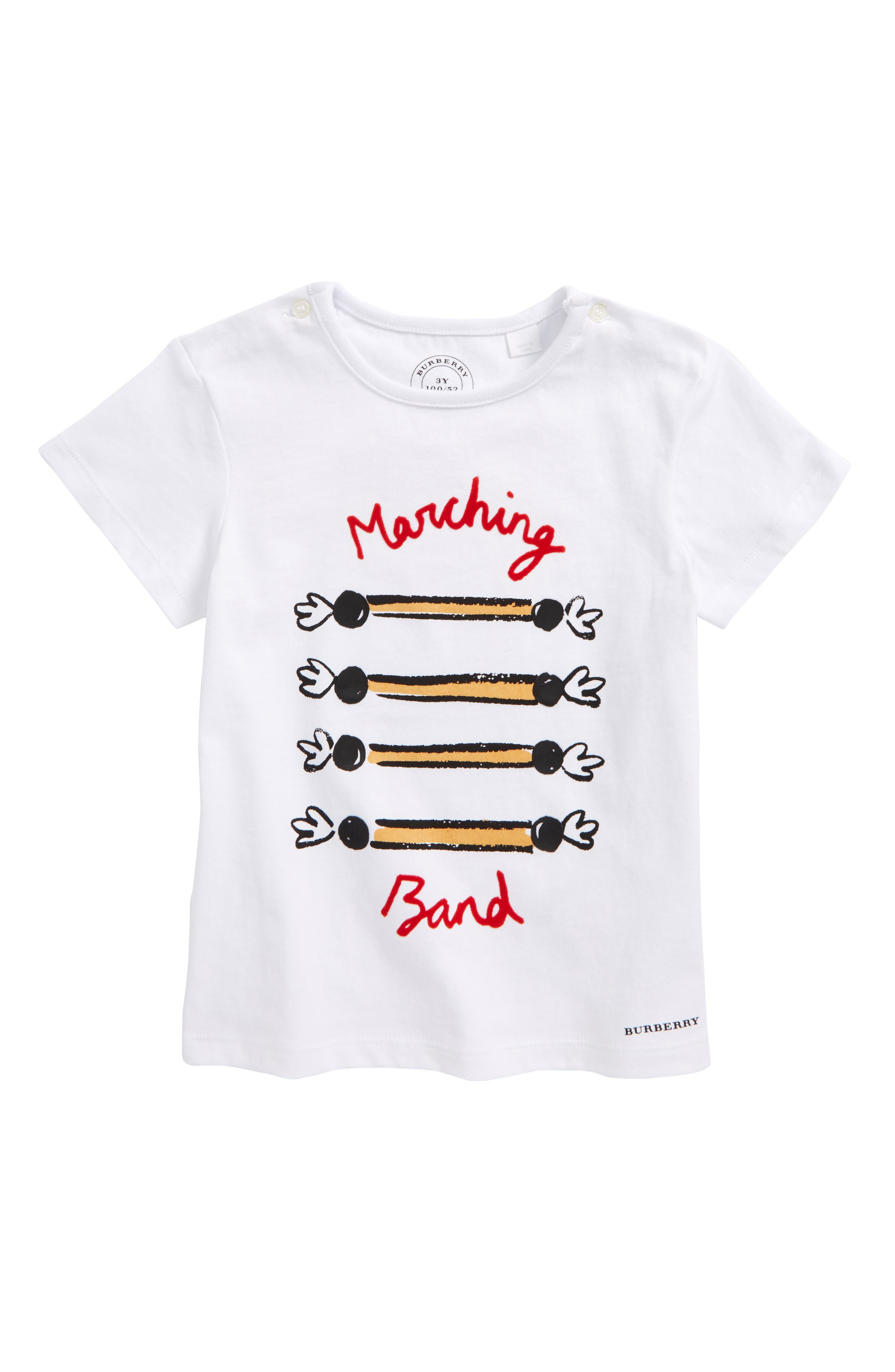 Marching Band Tee,                         Main,                         color, White