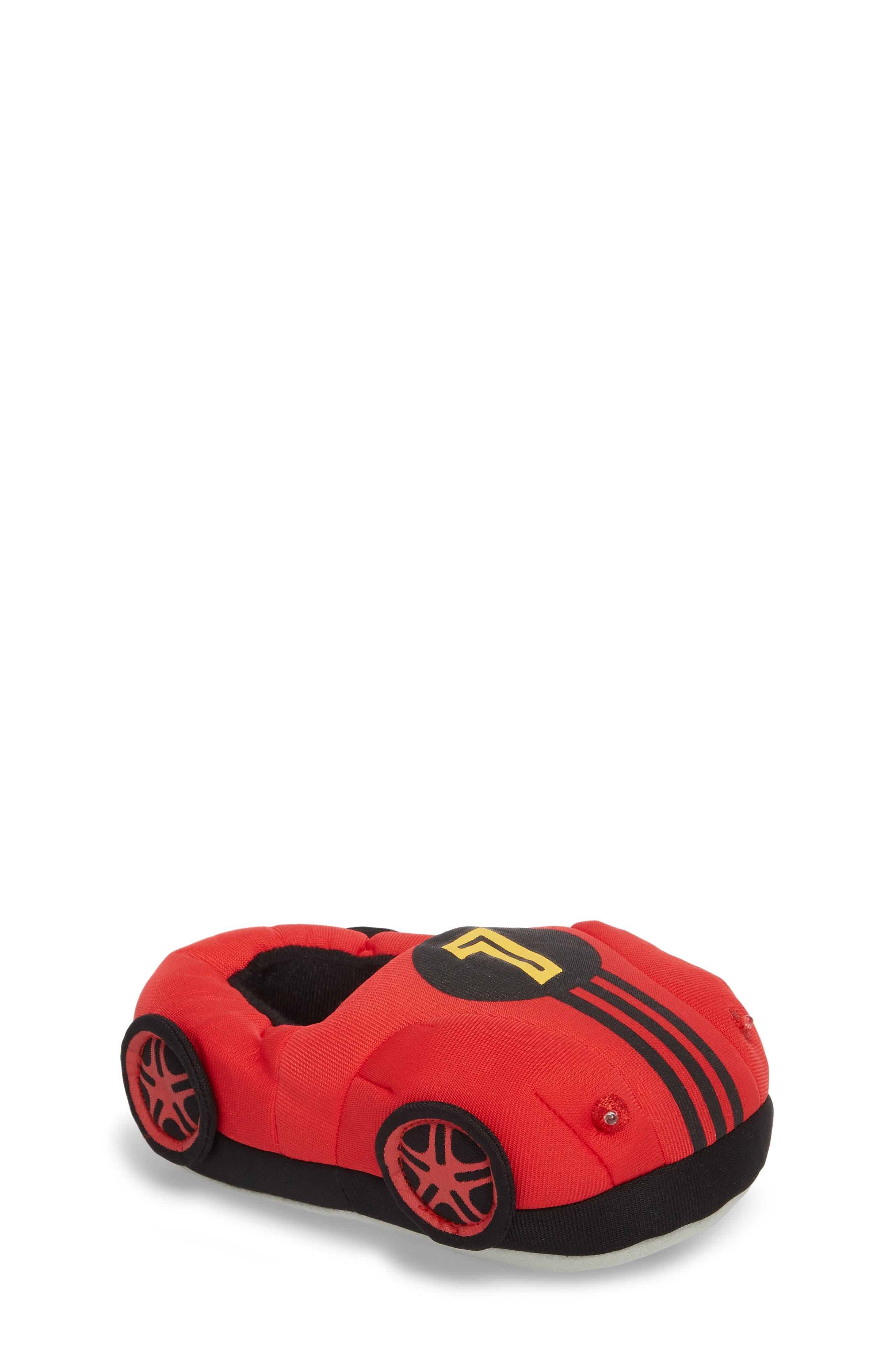 Light-Up Race Car Slipper,                         Main,                         color, Red