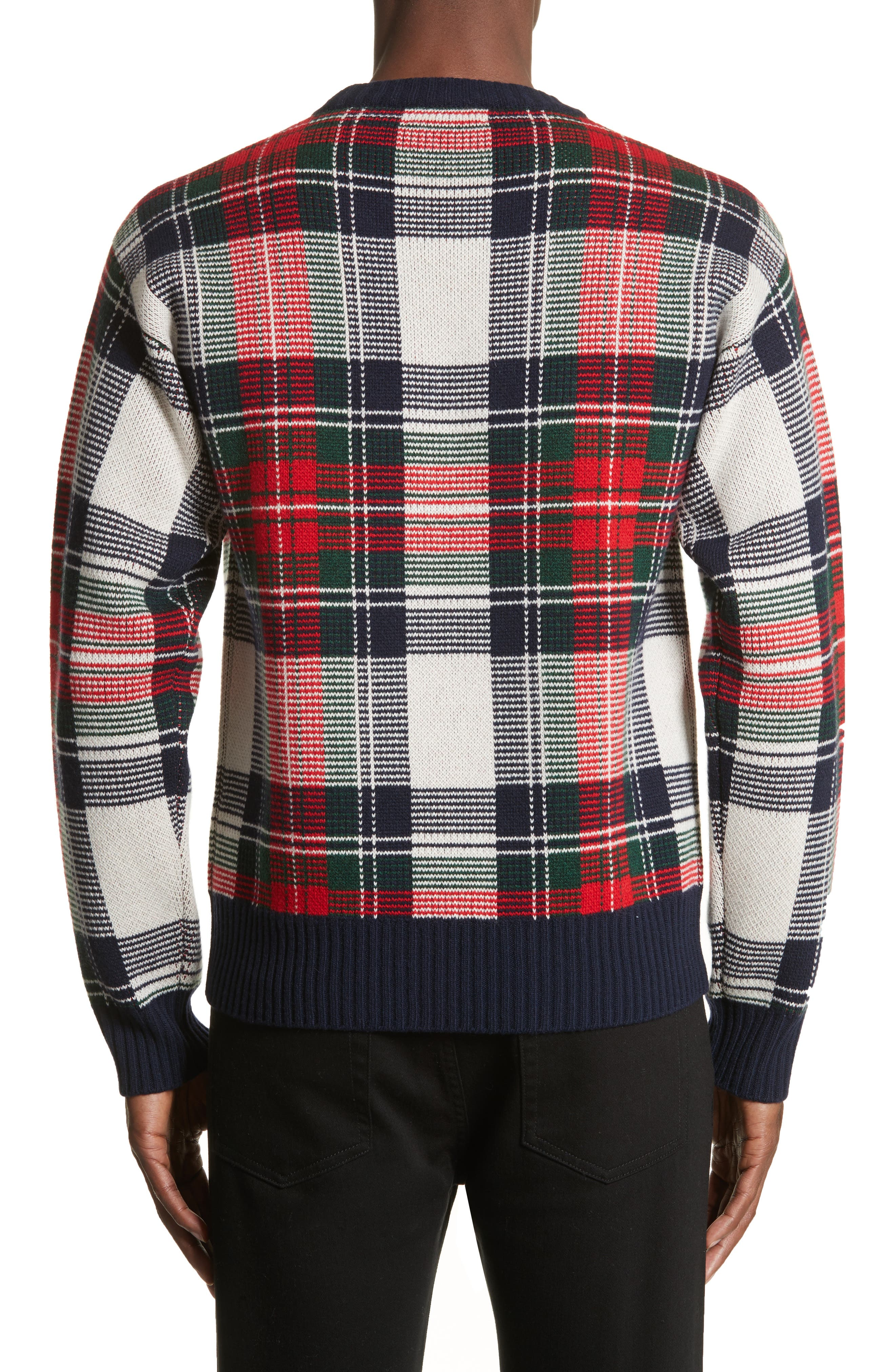 Alternate Image 2  - Burberry Plaid Cashmere & Wool Sweater