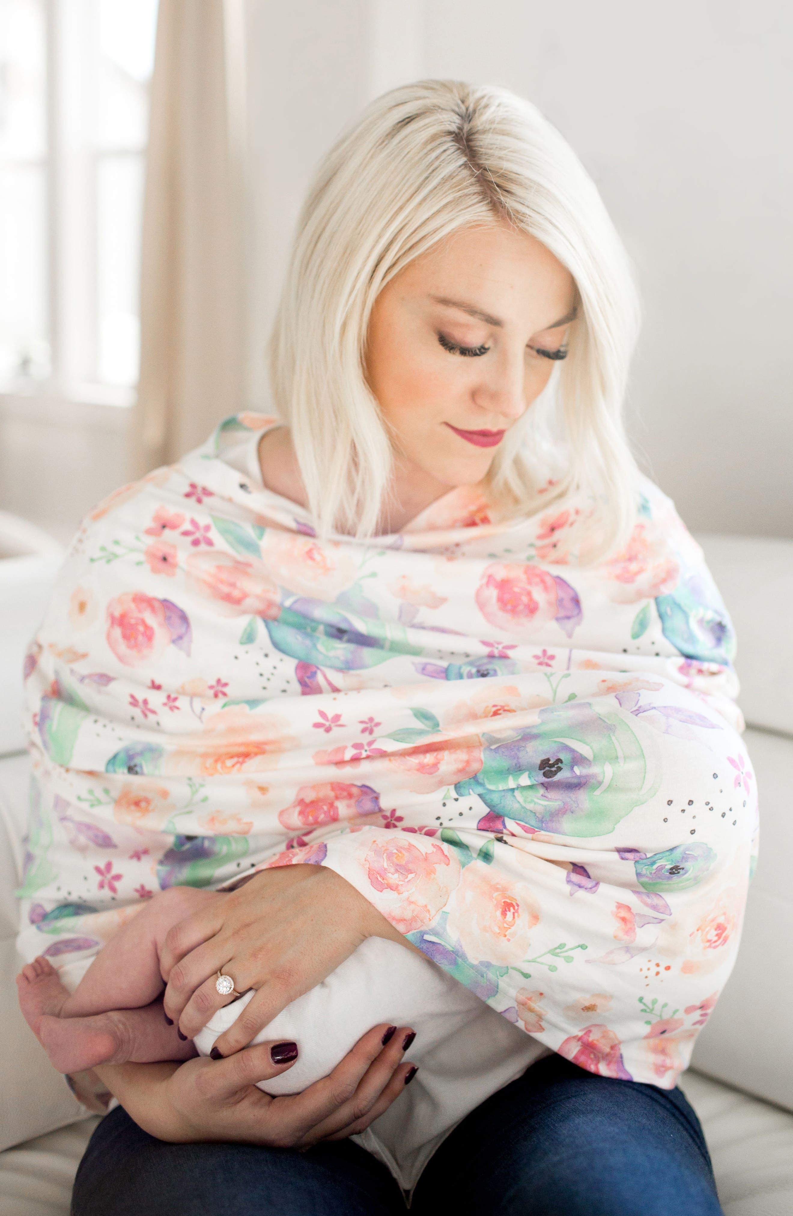 Bloom Multiuse Cover & Swaddle Blanket Gift Set,                             Alternate thumbnail 16, color,                             Bloom