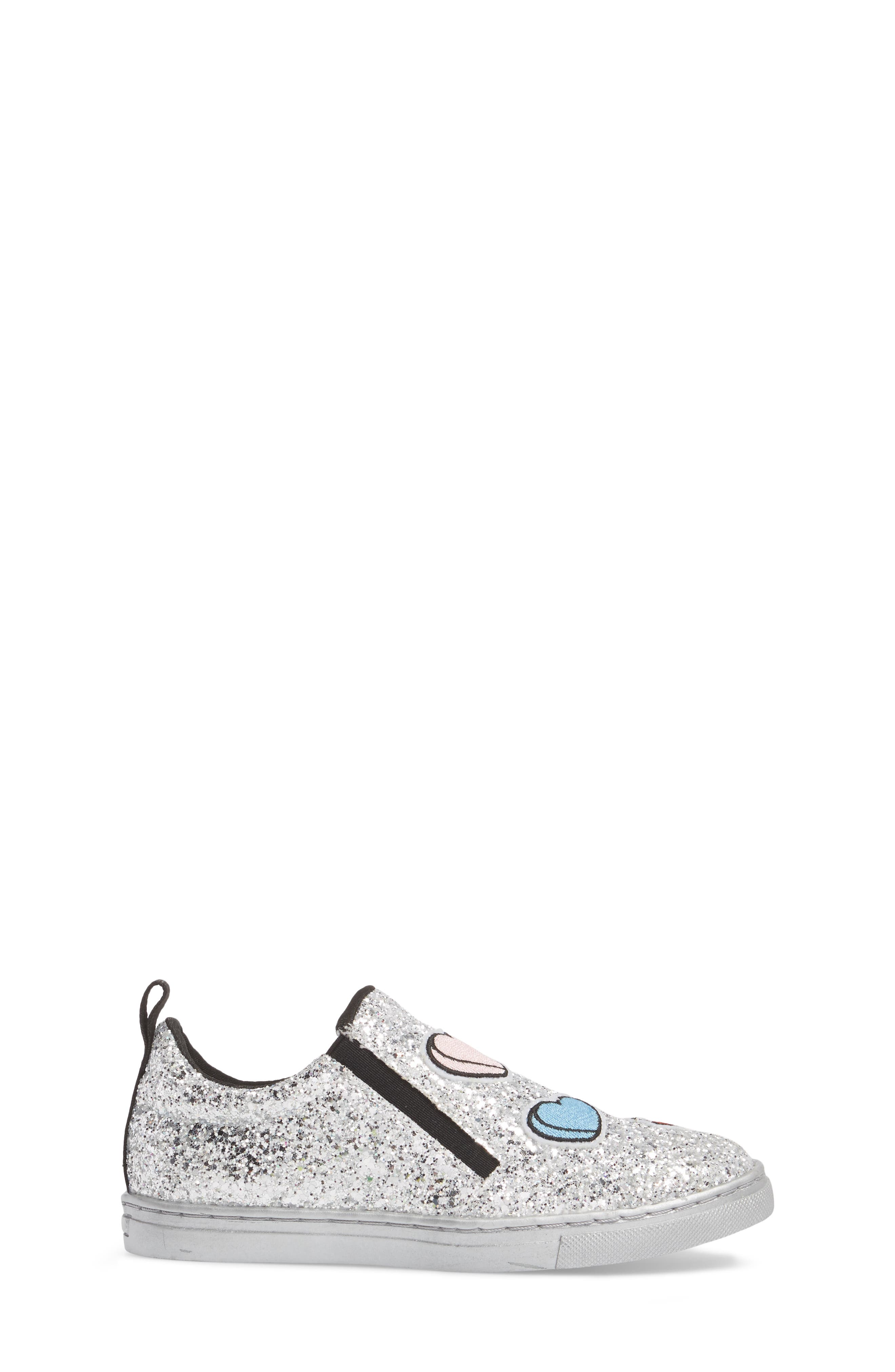 Zach Sneaker,                             Alternate thumbnail 3, color,                             Silver Multi Glitter