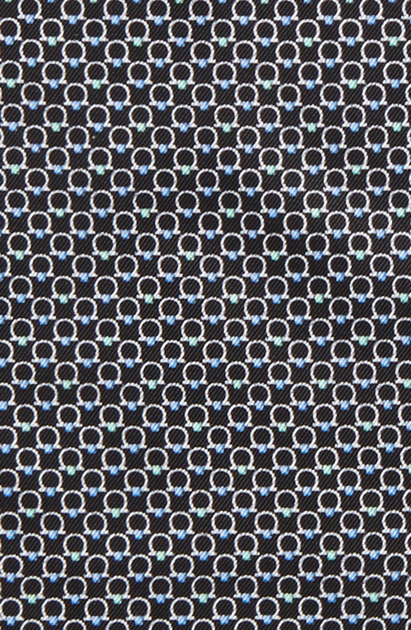 Energia Medallion Silk Pocket Square,                             Alternate thumbnail 2, color,                             Black
