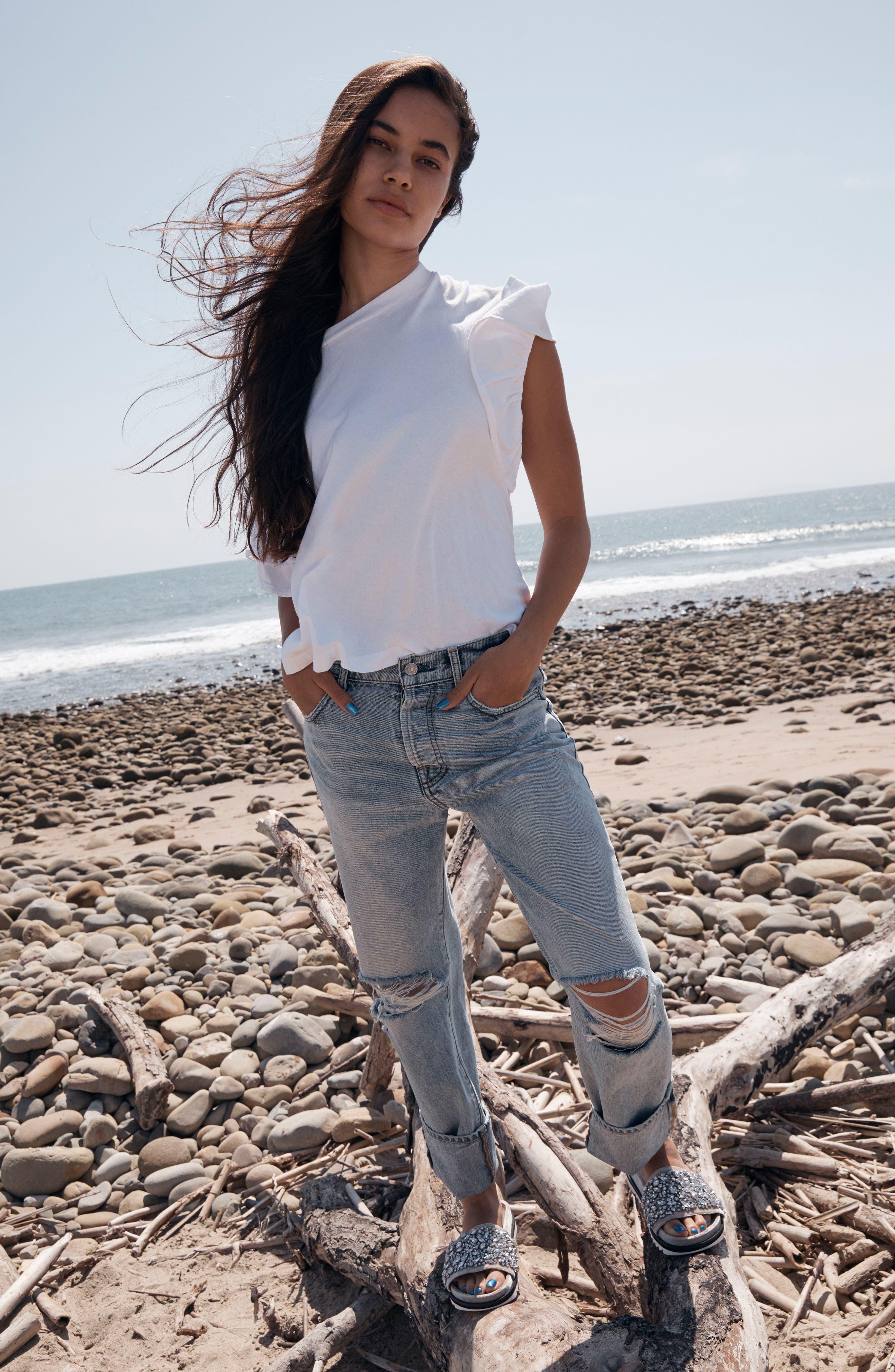 Alternate Image 2  - 7 For All Mankind® Rickie High Waist Boyfriend Jeans (Mineral Desert Springs)