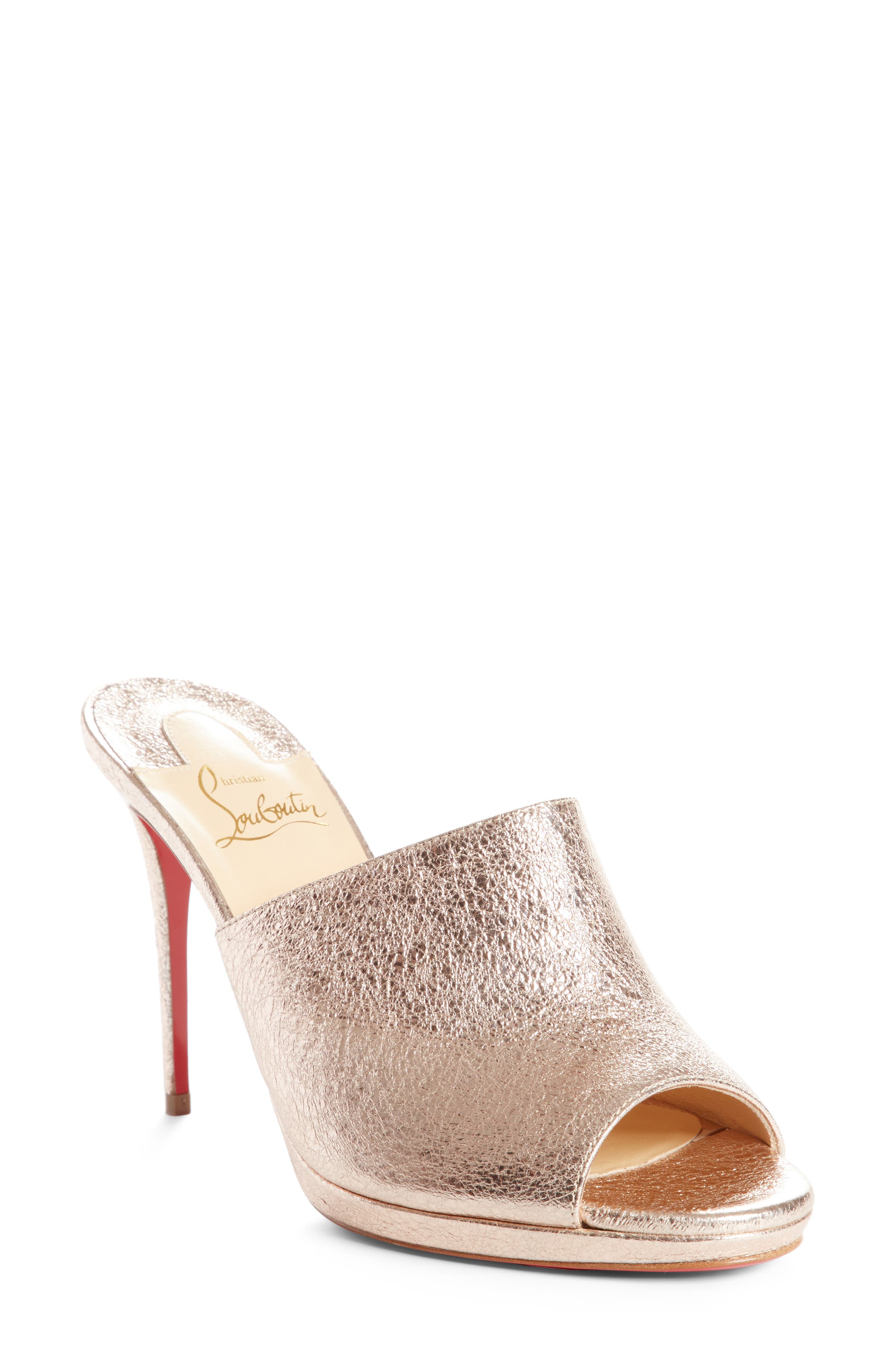 Metallic Pigalle Mule,                             Main thumbnail 1, color,                             Rose Gold