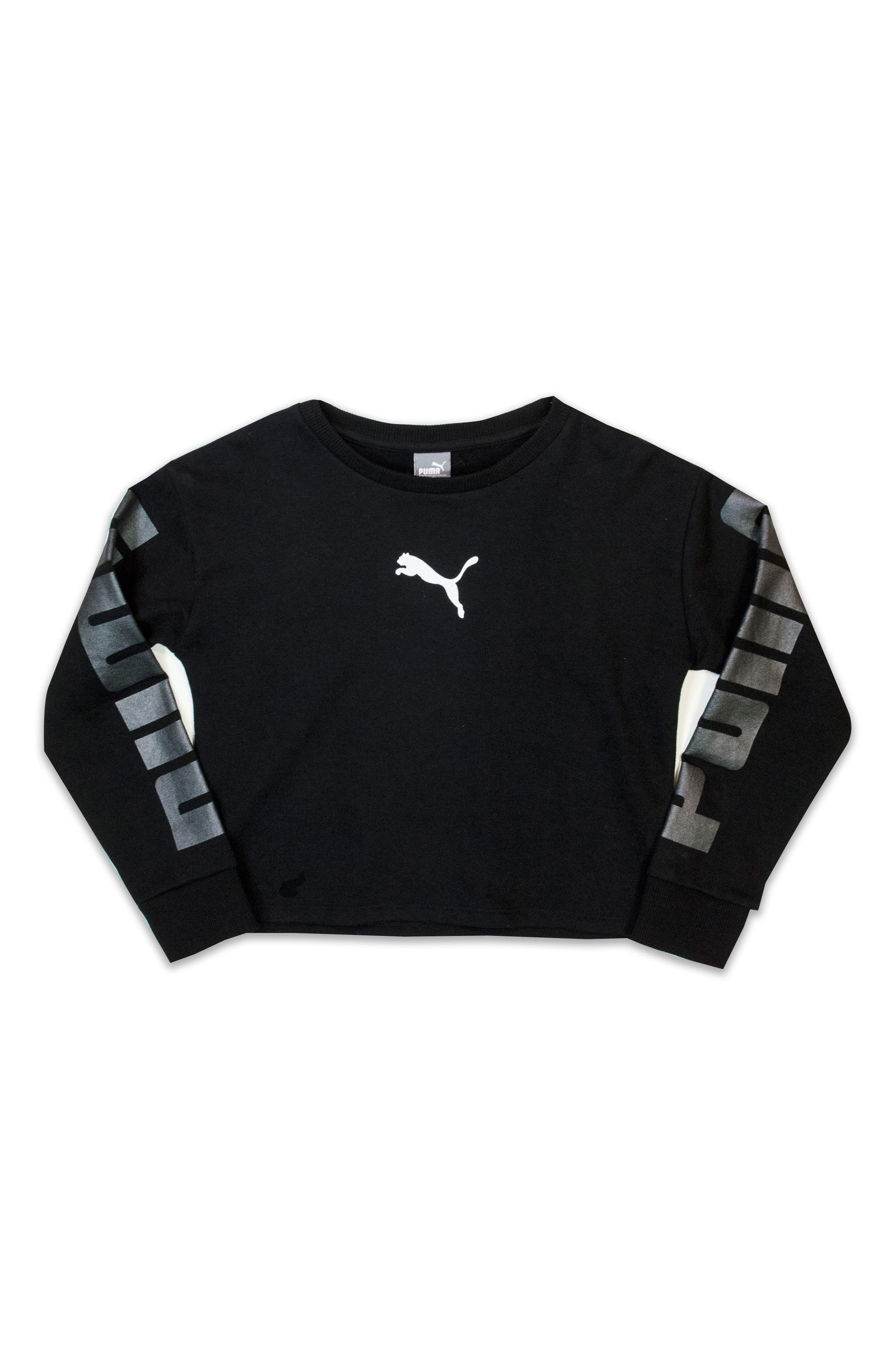 Alternate Image 1 Selected - PUMA French Terry Sweatshirt (Big Girls)