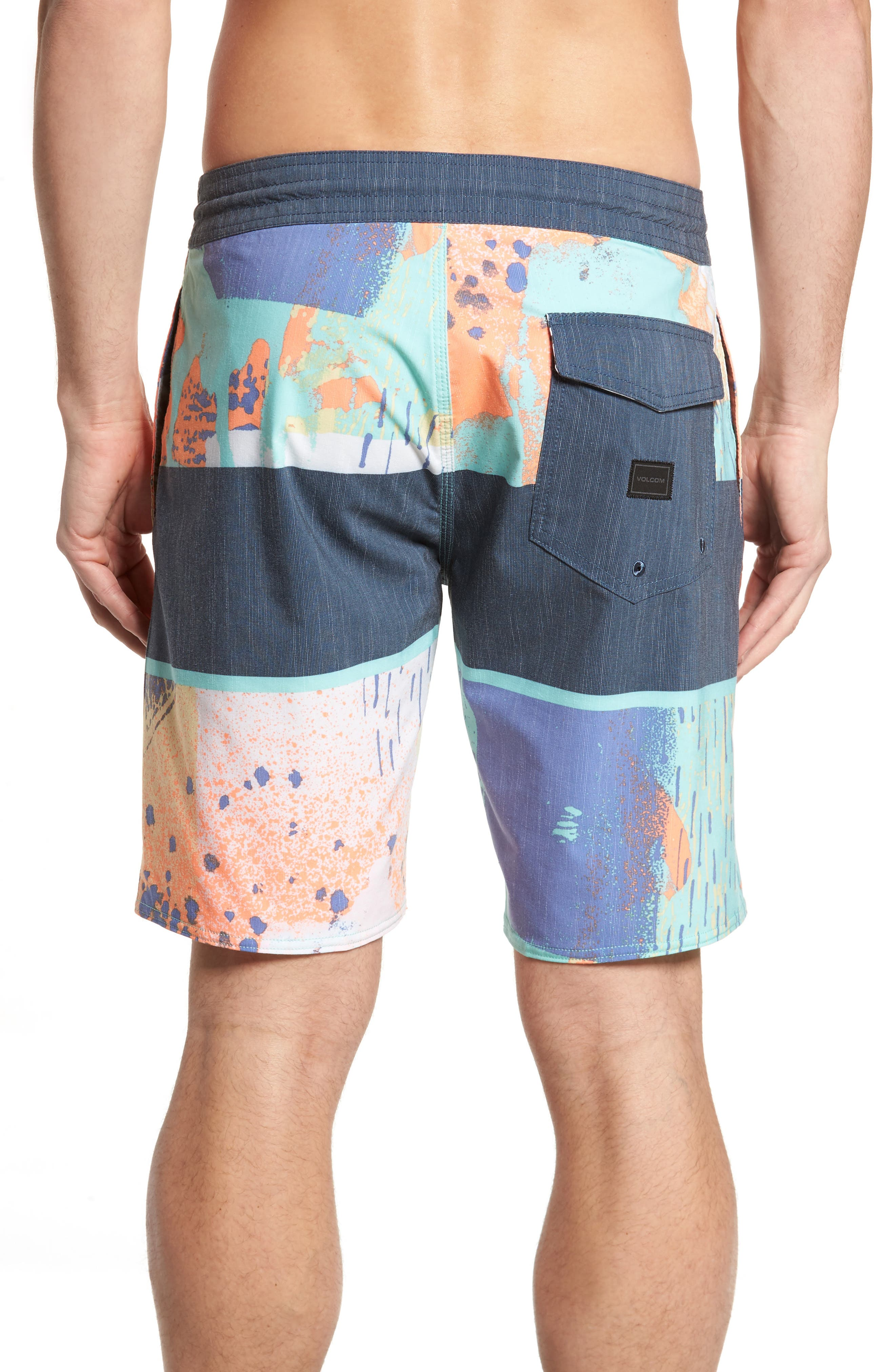 3 Quarta Board Shorts,                             Alternate thumbnail 2, color,                             Orange
