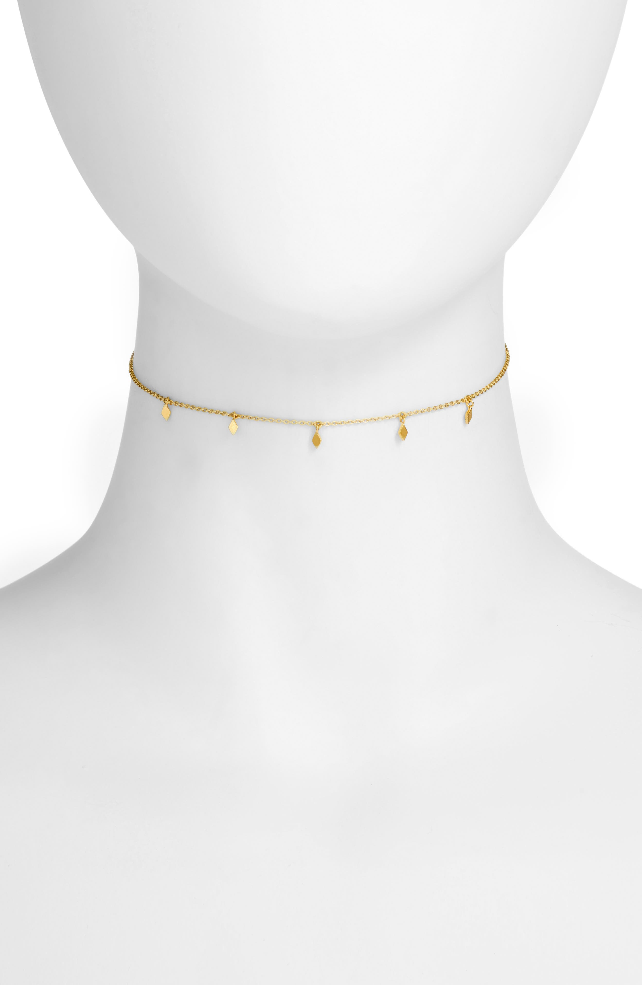 Sofia Choker Necklace,                             Main thumbnail 1, color,                             Gold