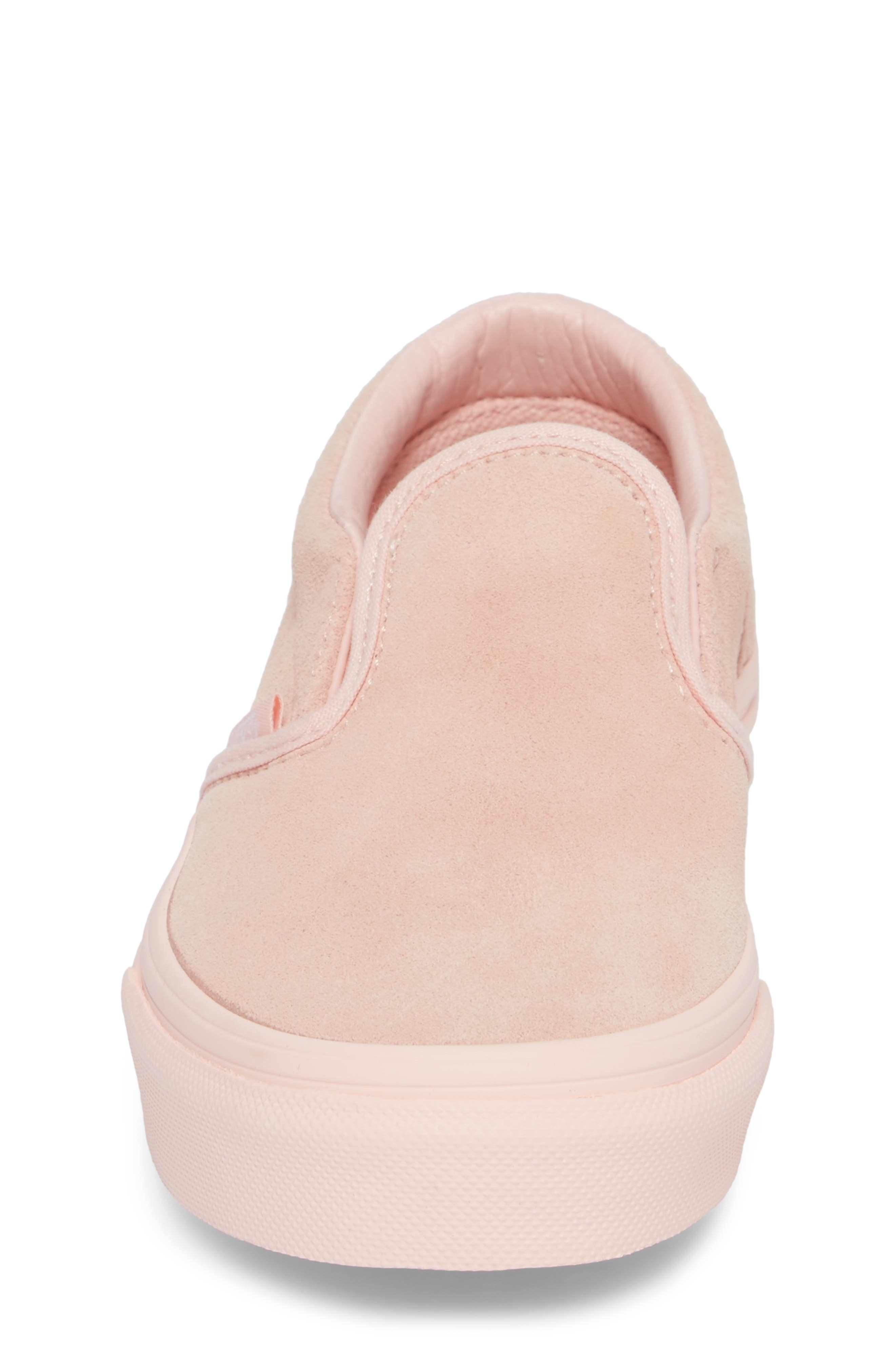 Classic Slip-On Sneaker,                             Alternate thumbnail 4, color,                             Suede Mono/ English Rose
