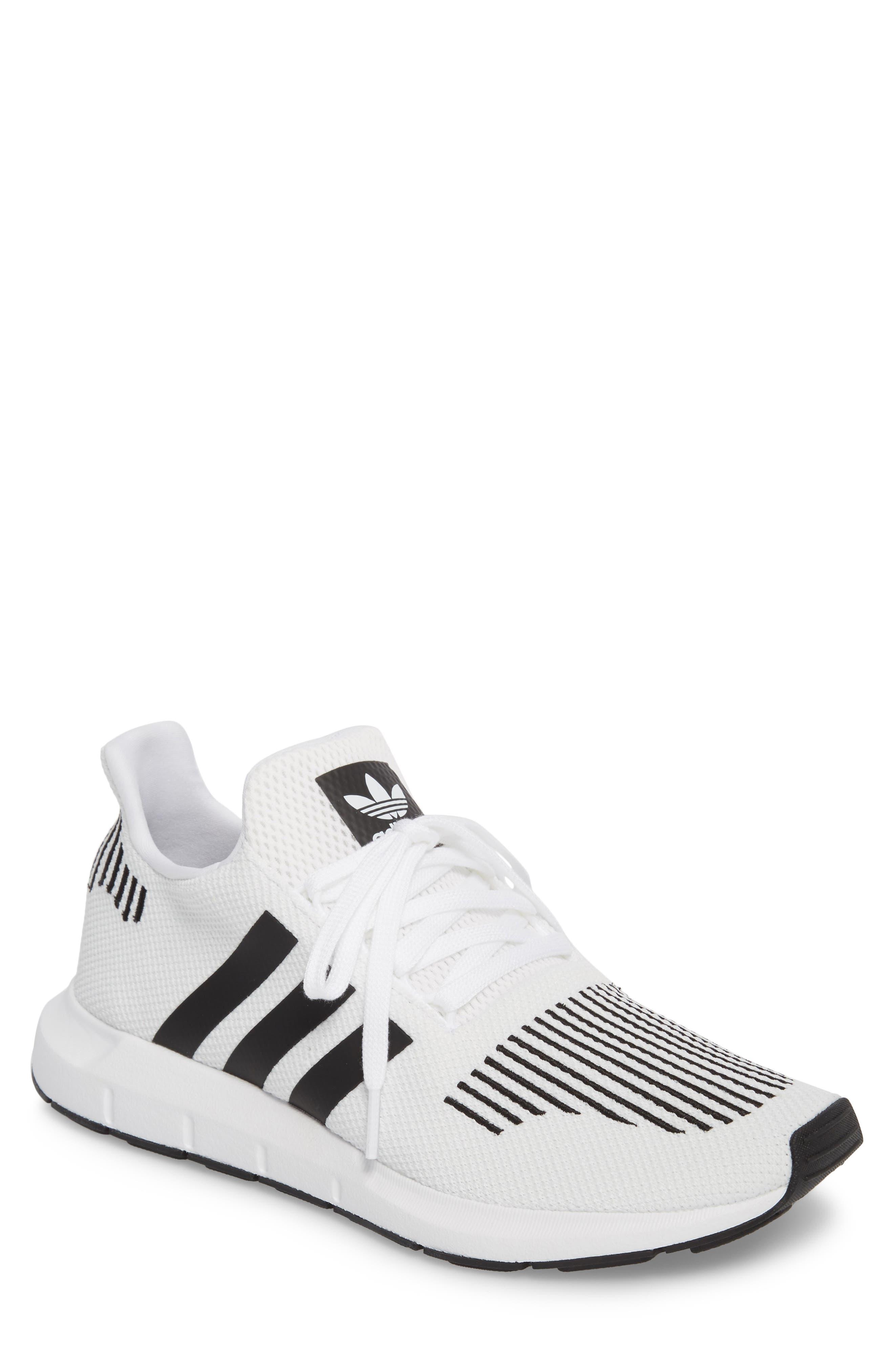 Swift Run Sneaker,                             Main thumbnail 1, color,                             White/ Core Black/ Grey