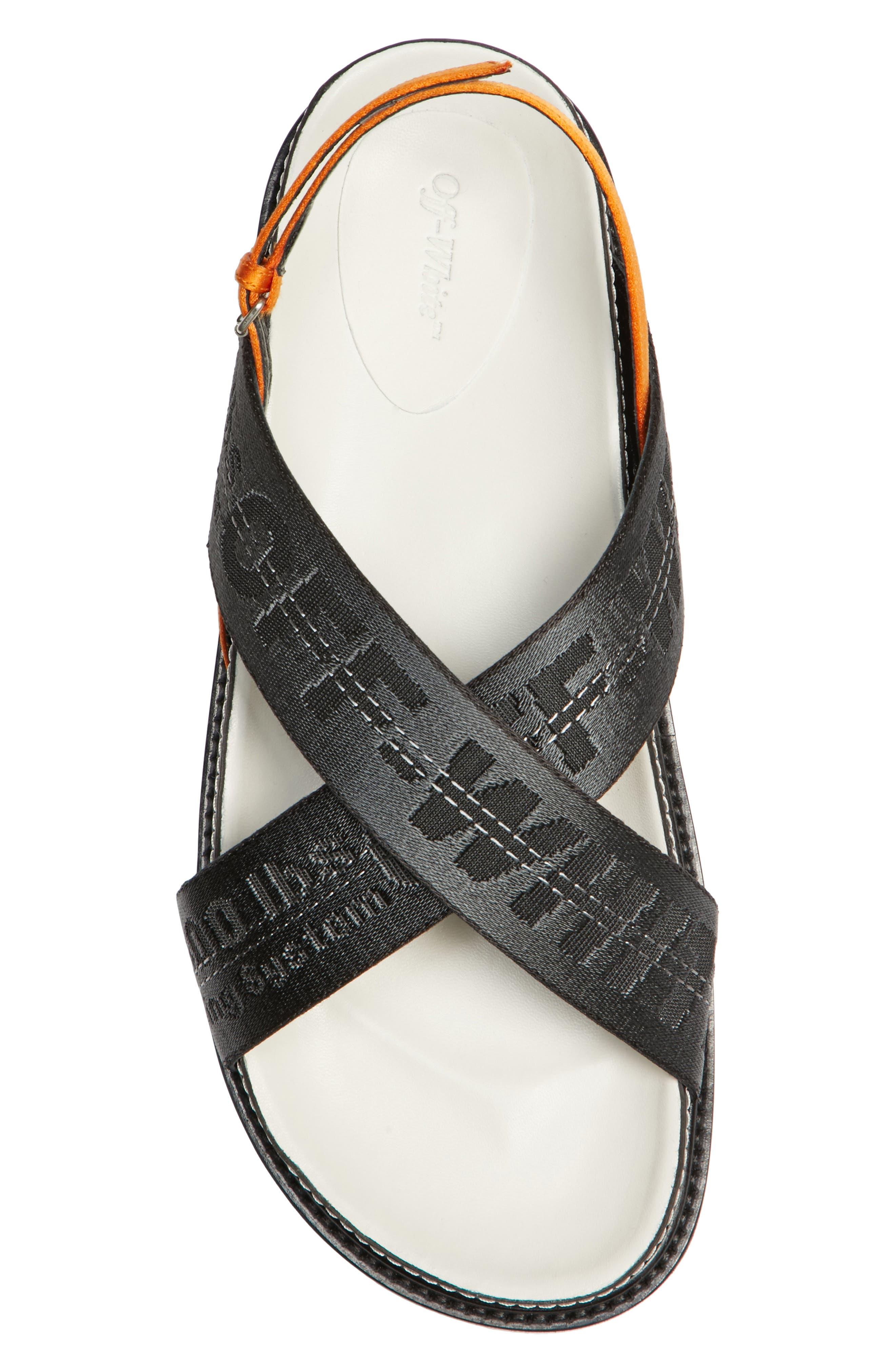 Industrial Belt Sandal,                             Alternate thumbnail 5, color,                             Black Black