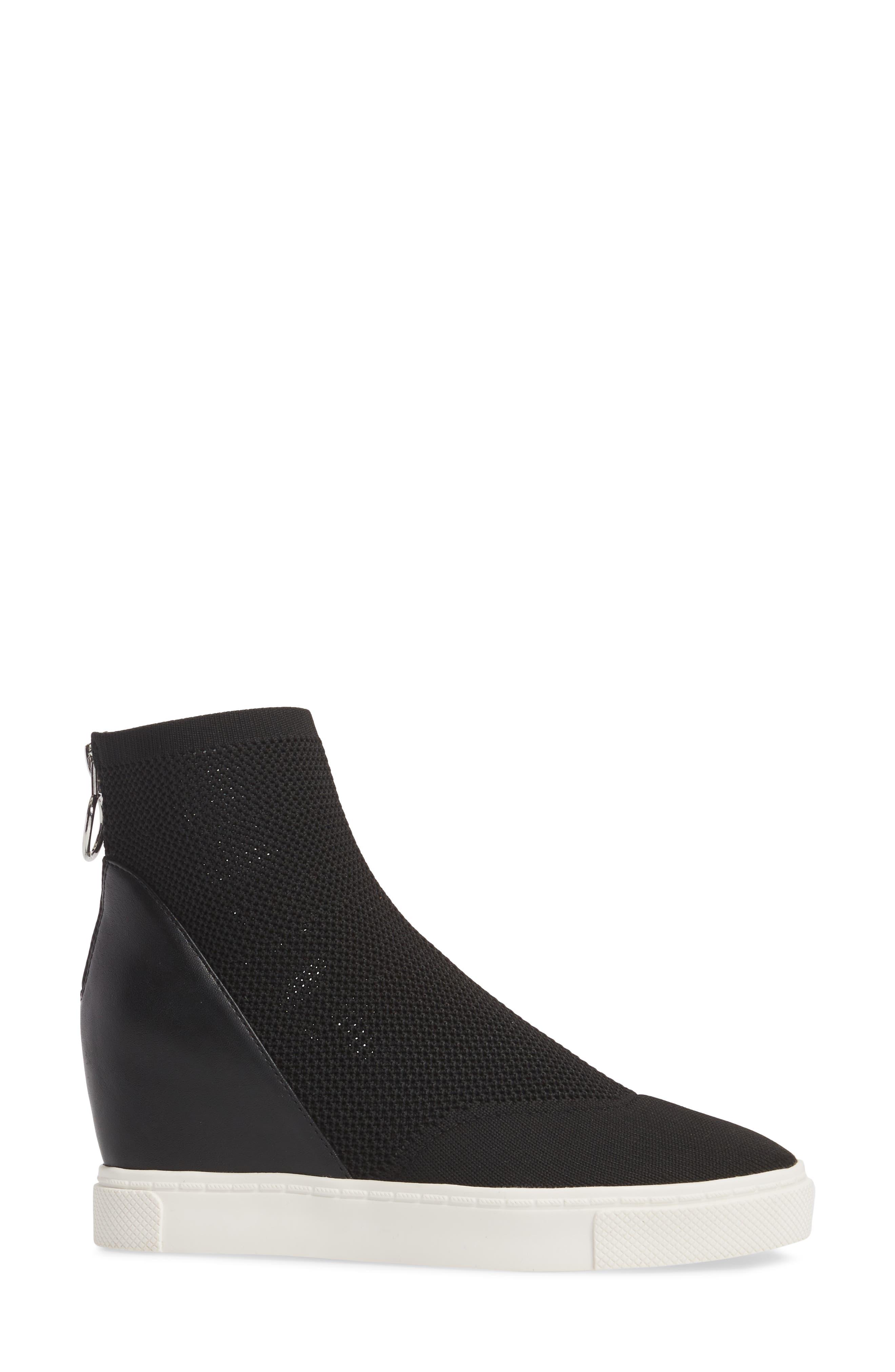 Lizzy Sneaker Bootie,                             Alternate thumbnail 3, color,                             Black