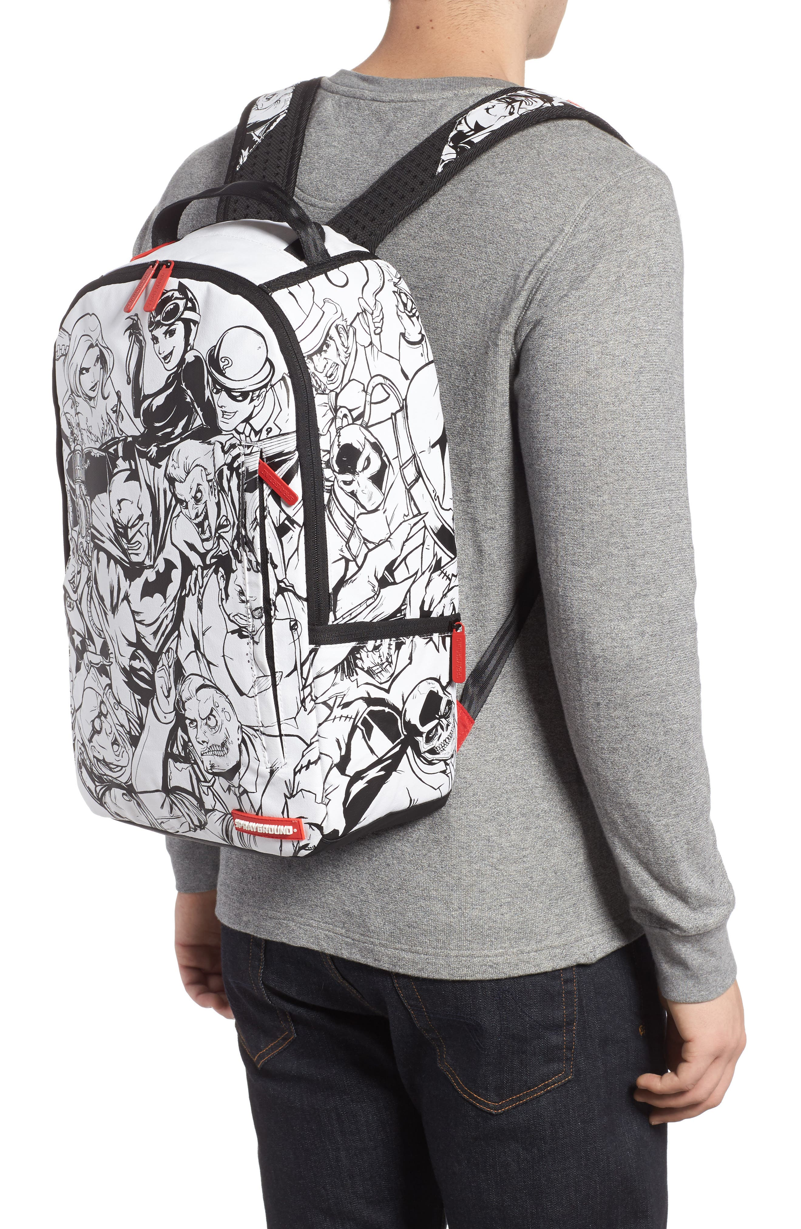 Batman DIY Villains Backpack,                             Alternate thumbnail 2, color,                             Black/ White