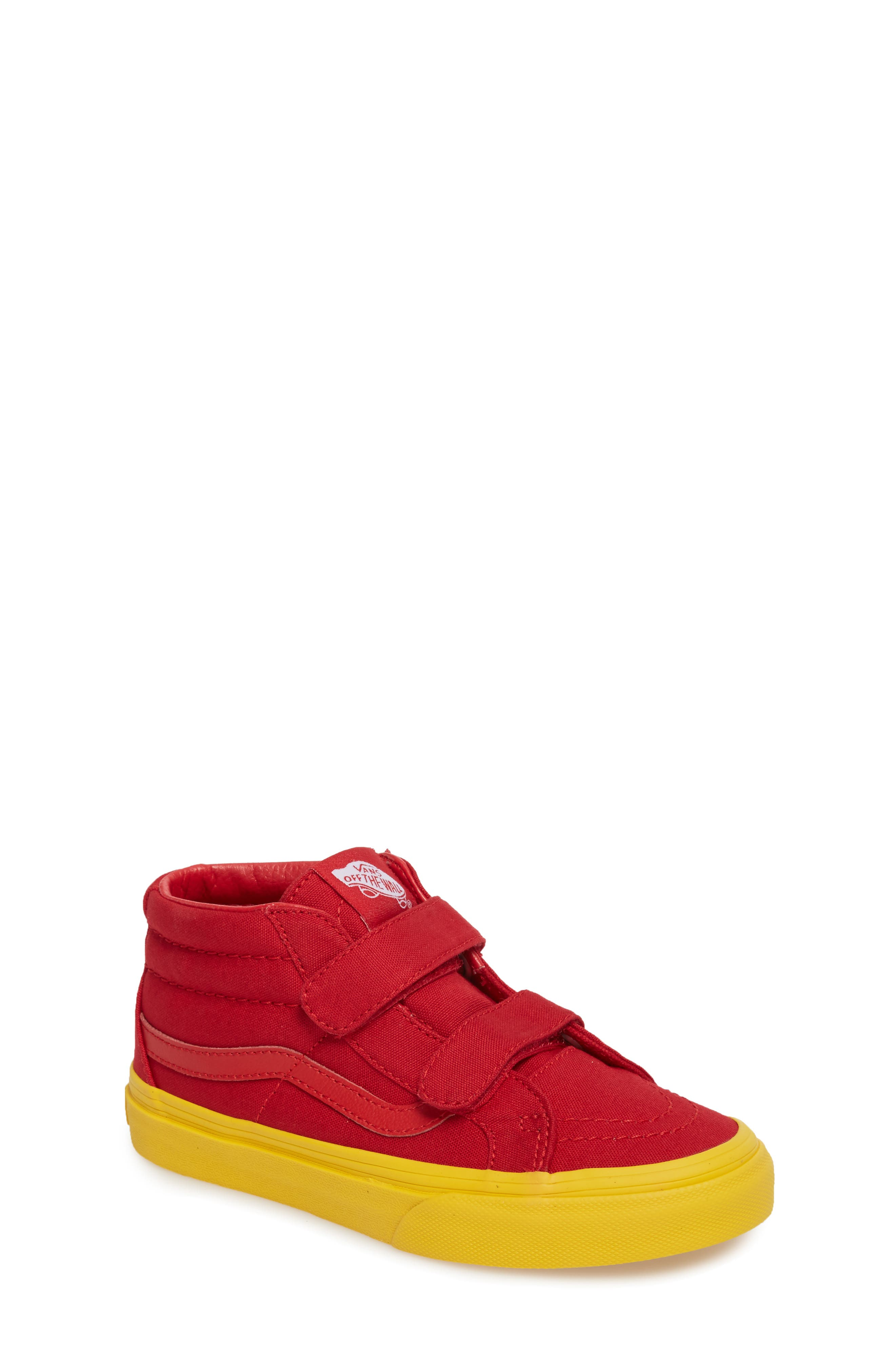 Sk8-Mid Reissue Sneaker,                             Main thumbnail 1, color,                             Red/ Gold Cosplay