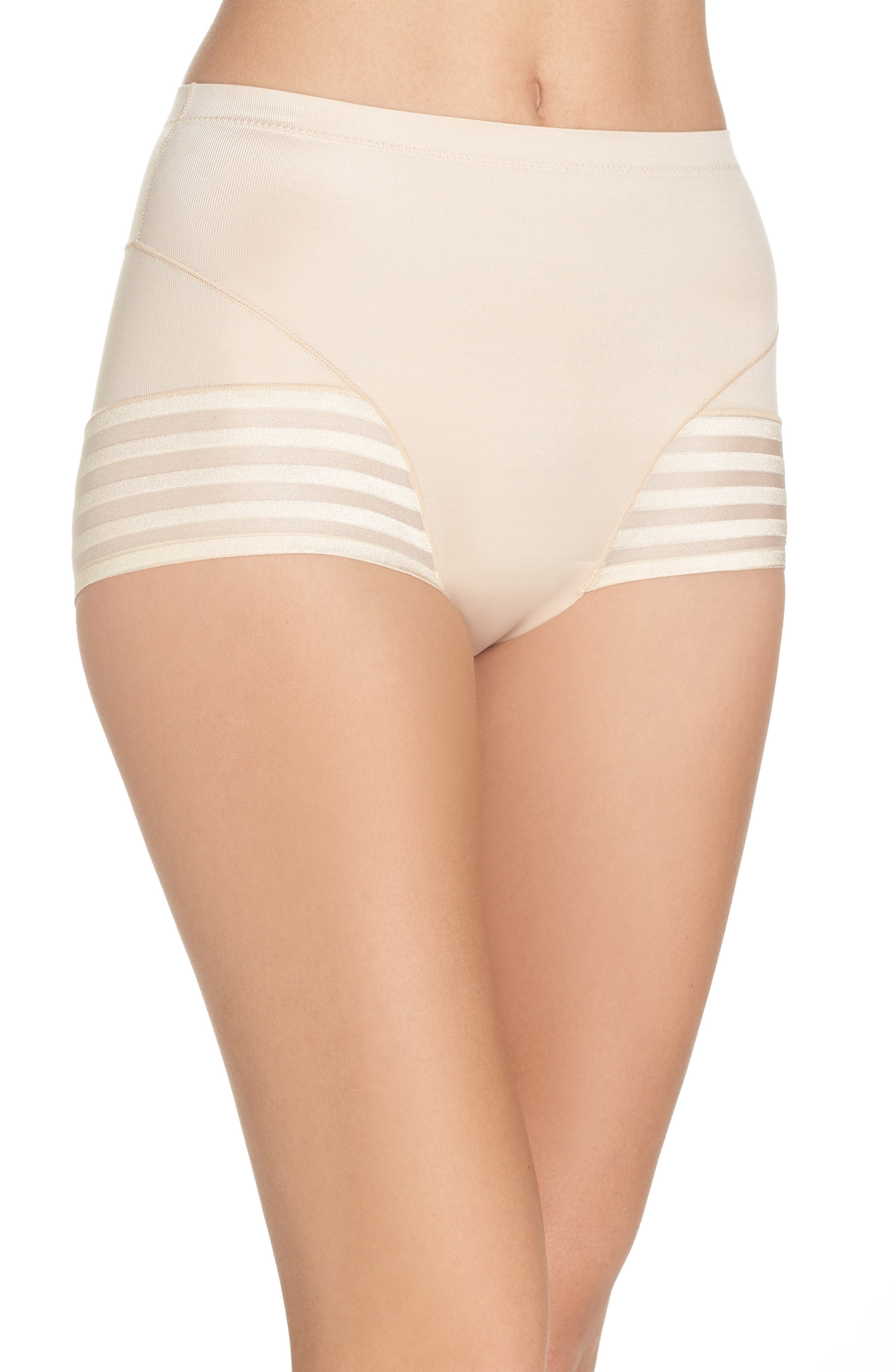 Tummy Squeezer Shaping Briefs,                             Main thumbnail 1, color,                             Latte