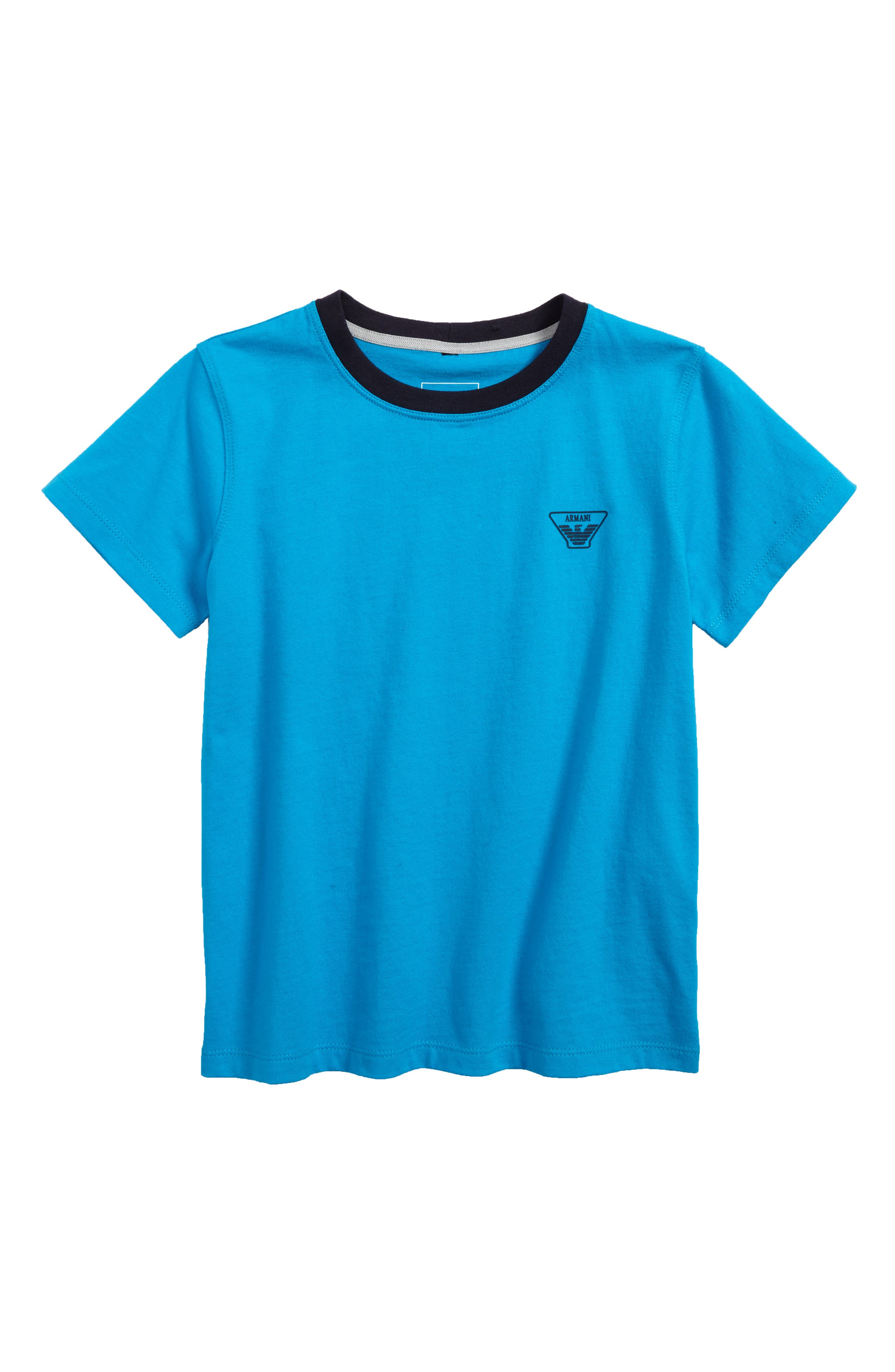 Logo T-Shirt,                         Main,                         color, Turquoise