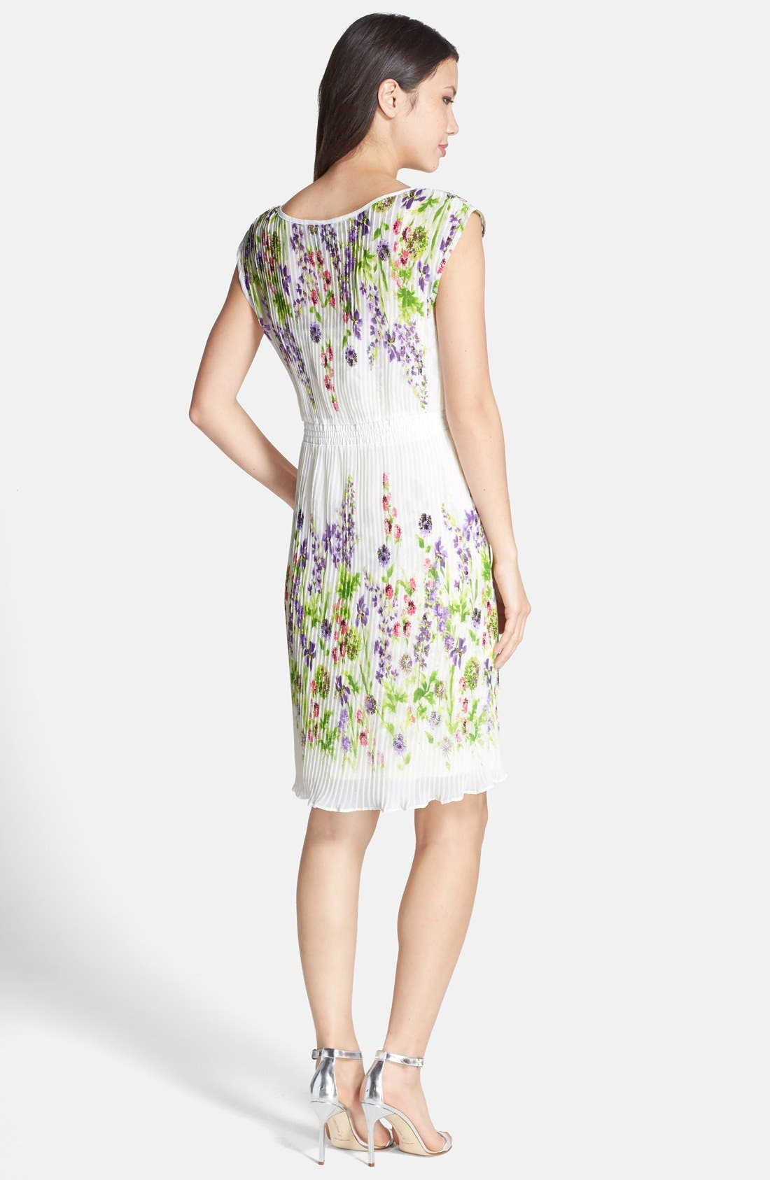 Alternate Image 3  - Gabby Skye Floral Print Chiffon Pleated Dress