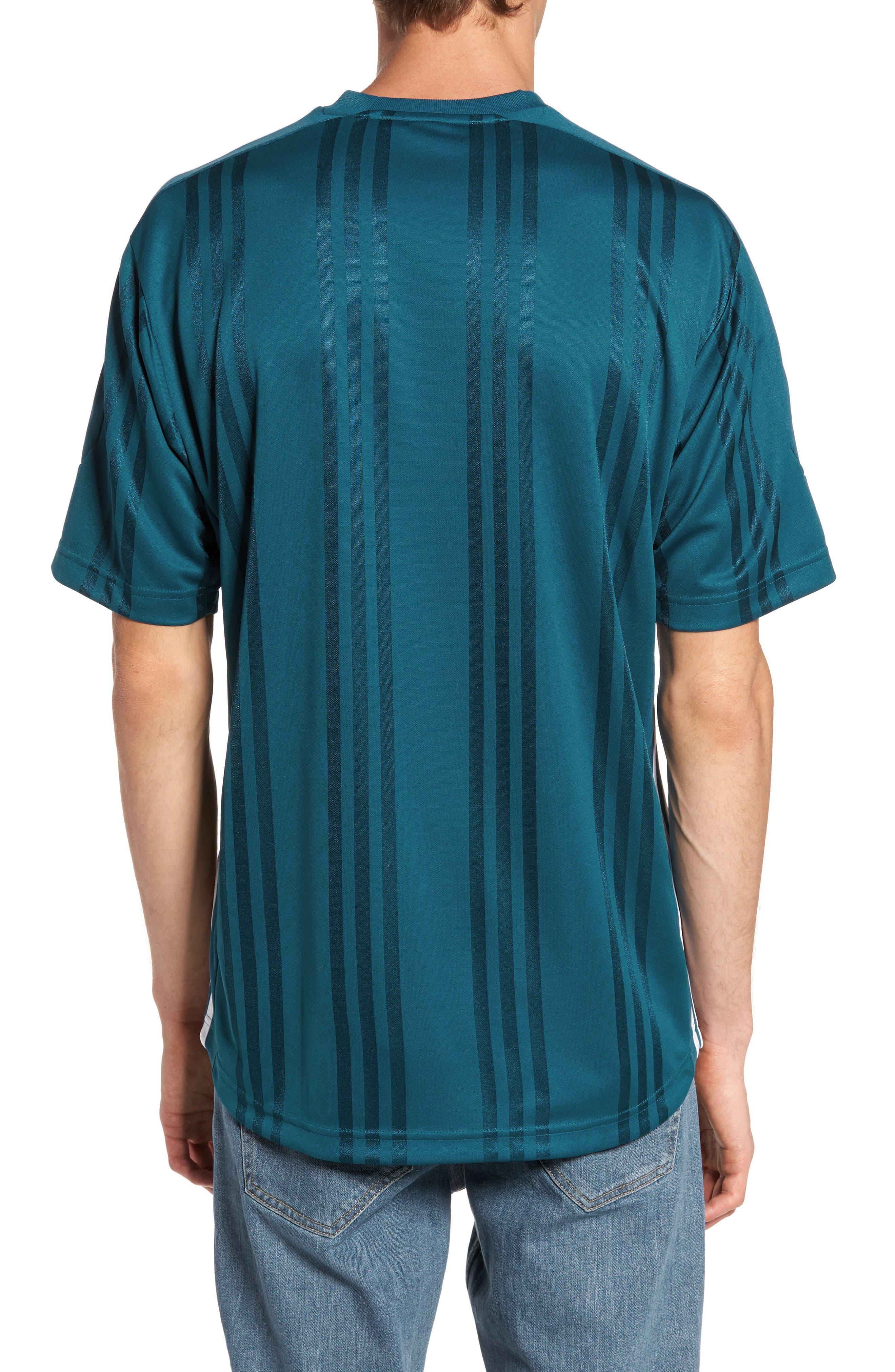 Originals Jacquard Stripe T-Shirt,                             Alternate thumbnail 2, color,                             Real Teal