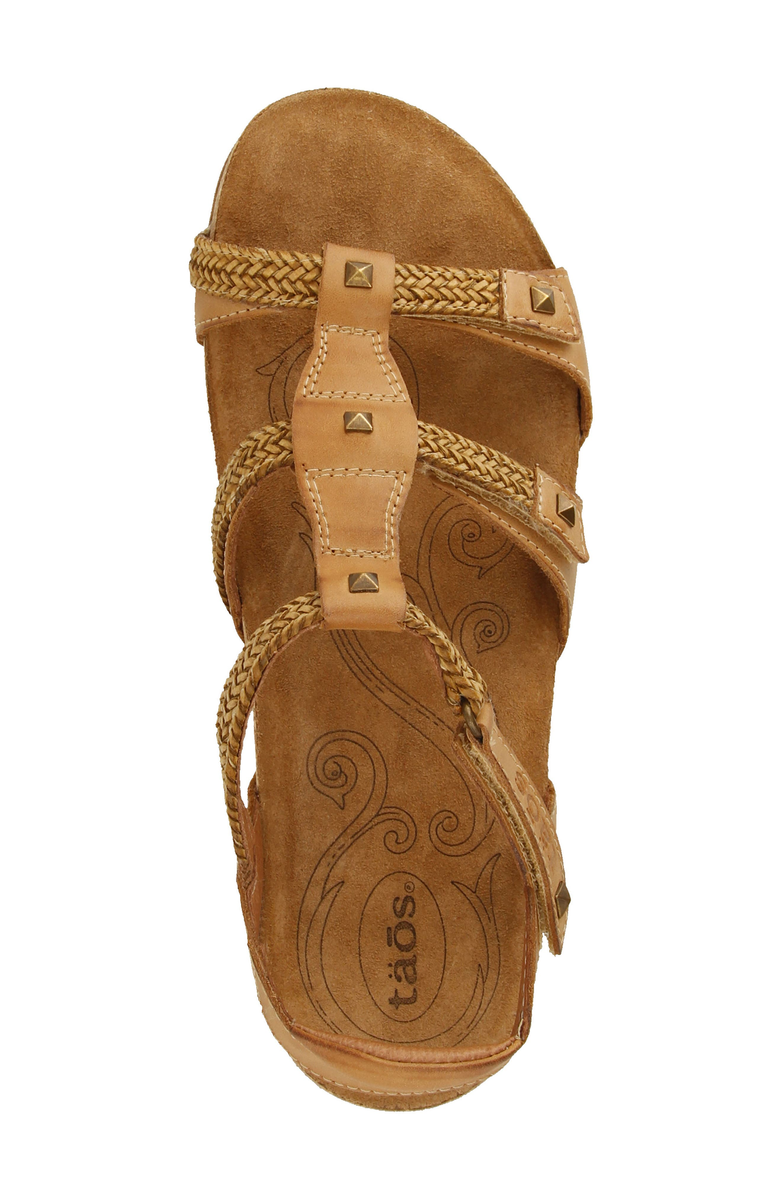 Eleanor Sandal,                             Alternate thumbnail 5, color,                             Camel Leather