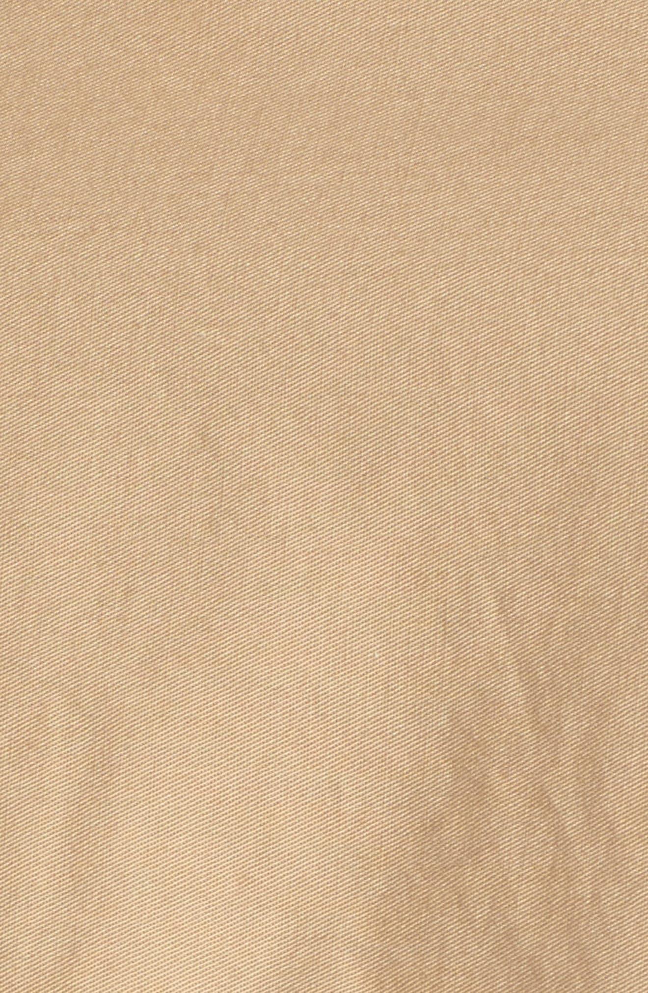 Crop Trench Coat,                             Alternate thumbnail 5, color,                             Beige Nougat