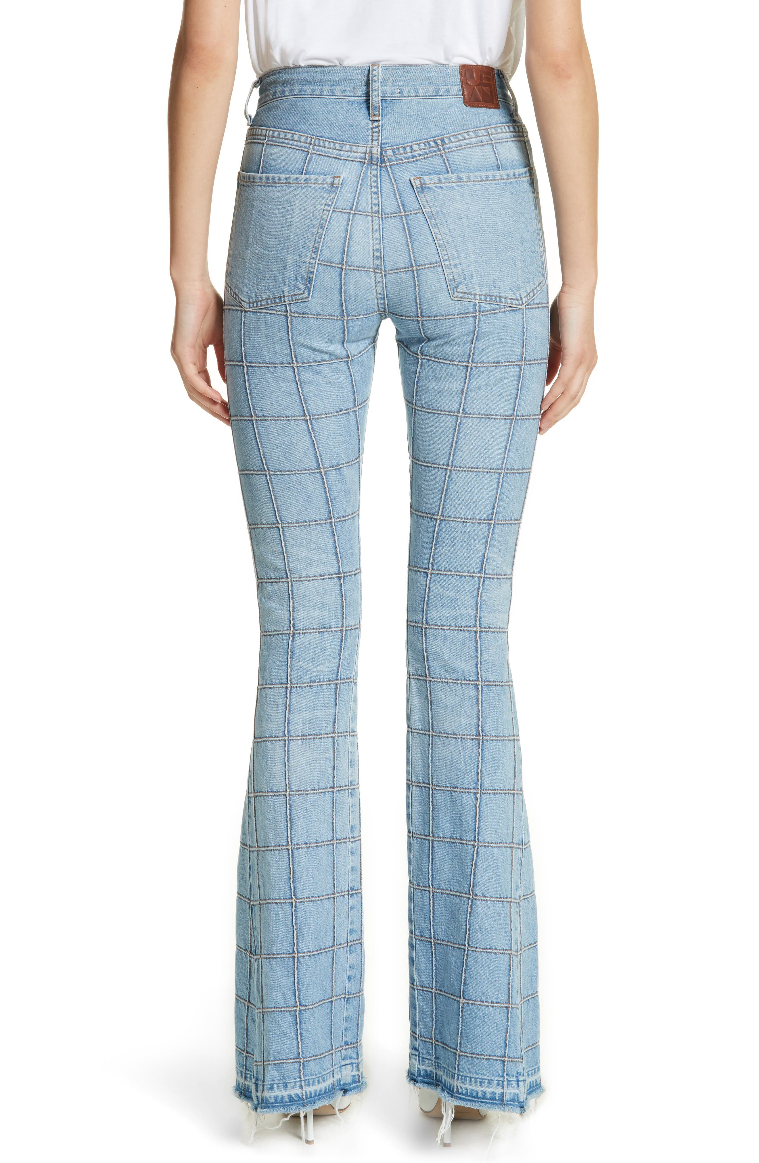 Janis High Rise Flare Jeans,                             Alternate thumbnail 3, color,                             Carnaby