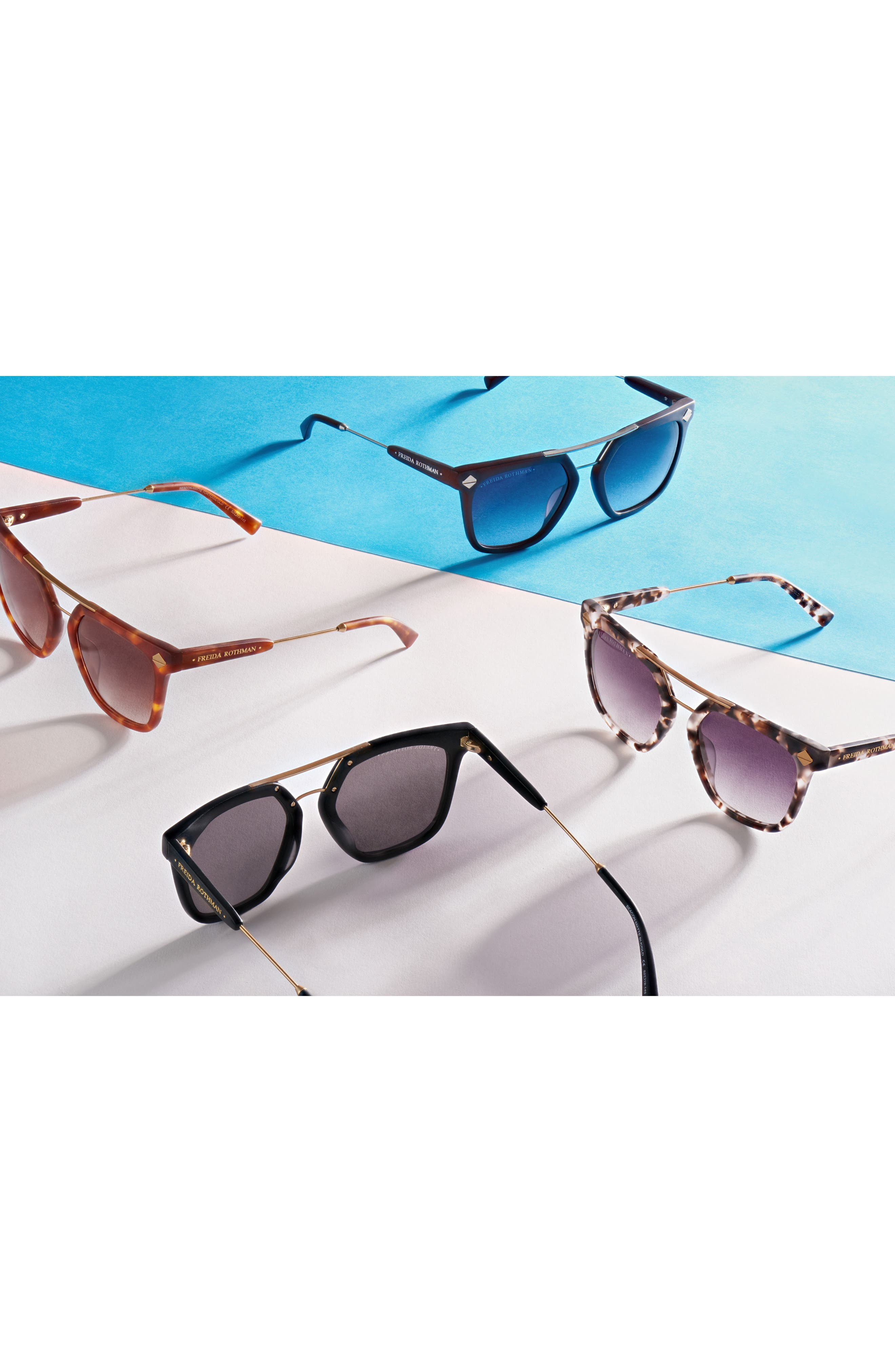 Beacon 52mm Aviator Sunglasses,                             Alternate thumbnail 2, color,                             Black
