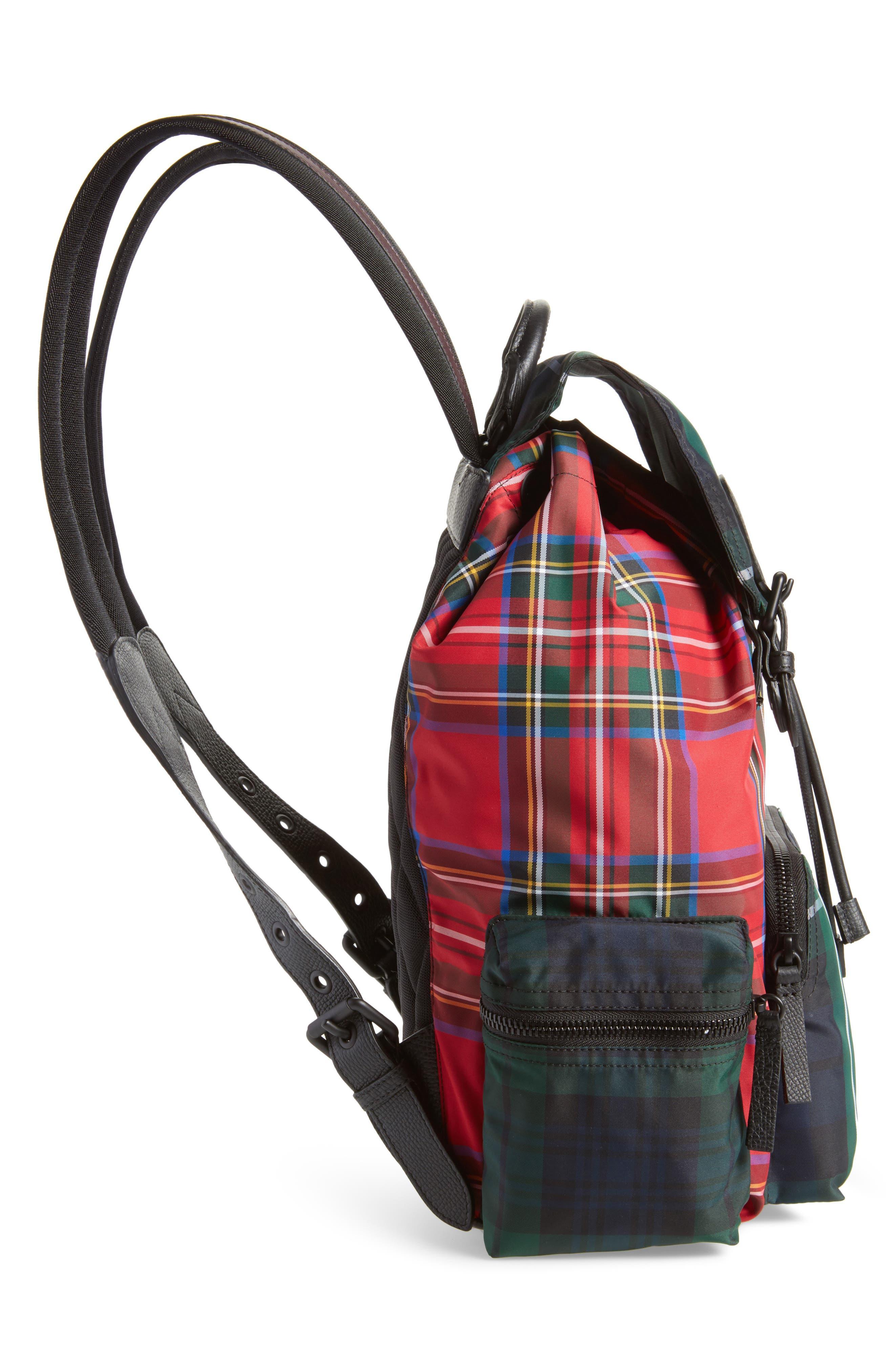 Tartan Backpack,                             Alternate thumbnail 5, color,                             Military Red
