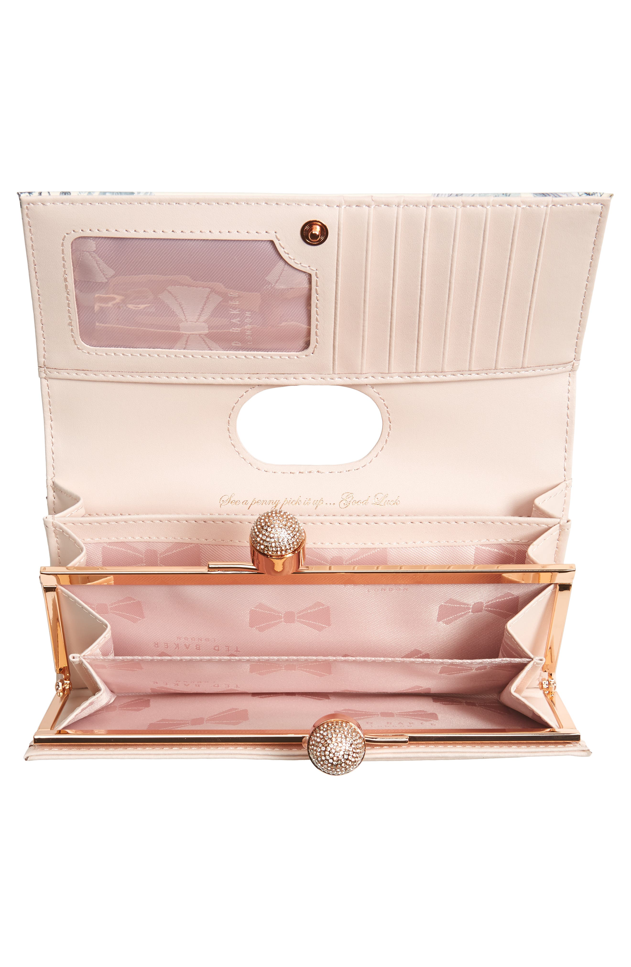Maycie Enchant Leather Matinée Wallet,                             Alternate thumbnail 2, color,                             Pale Pink