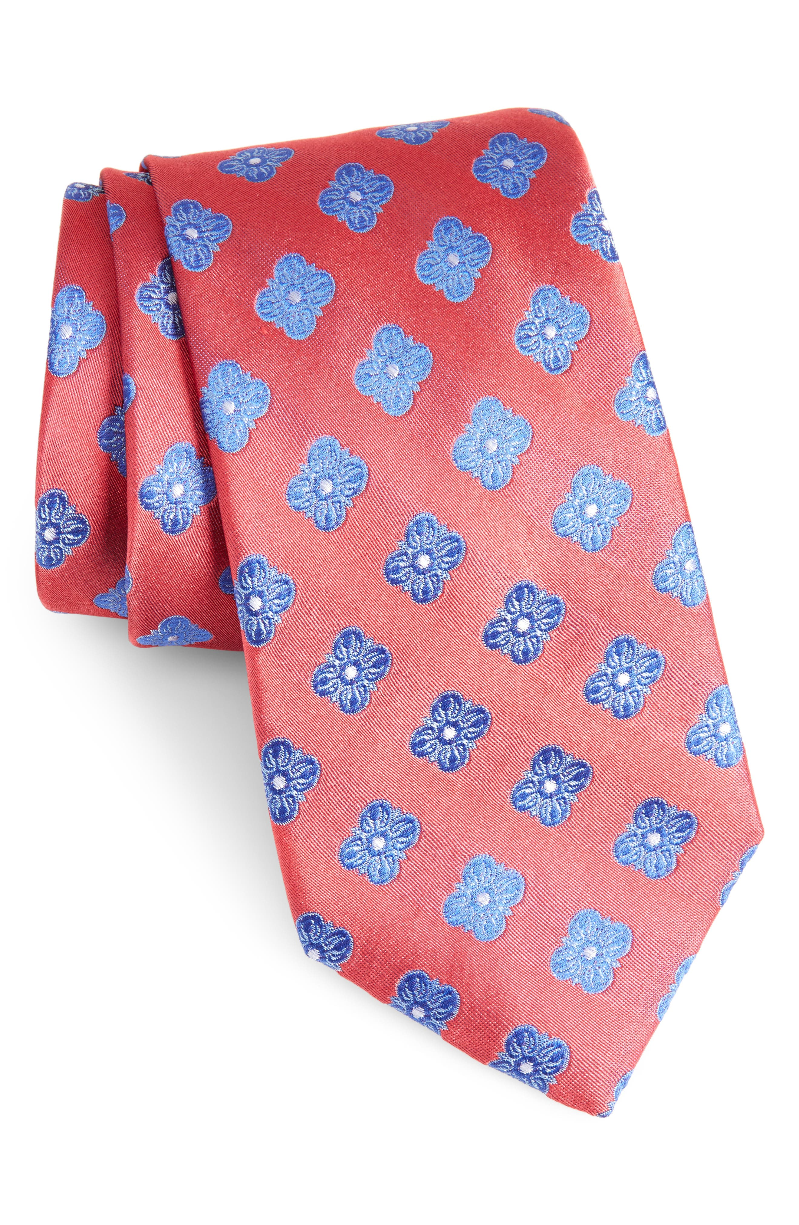 Alternate Image 1 Selected - Nordstrom Men's Shop Cameron Floral Medallion Silk Tie