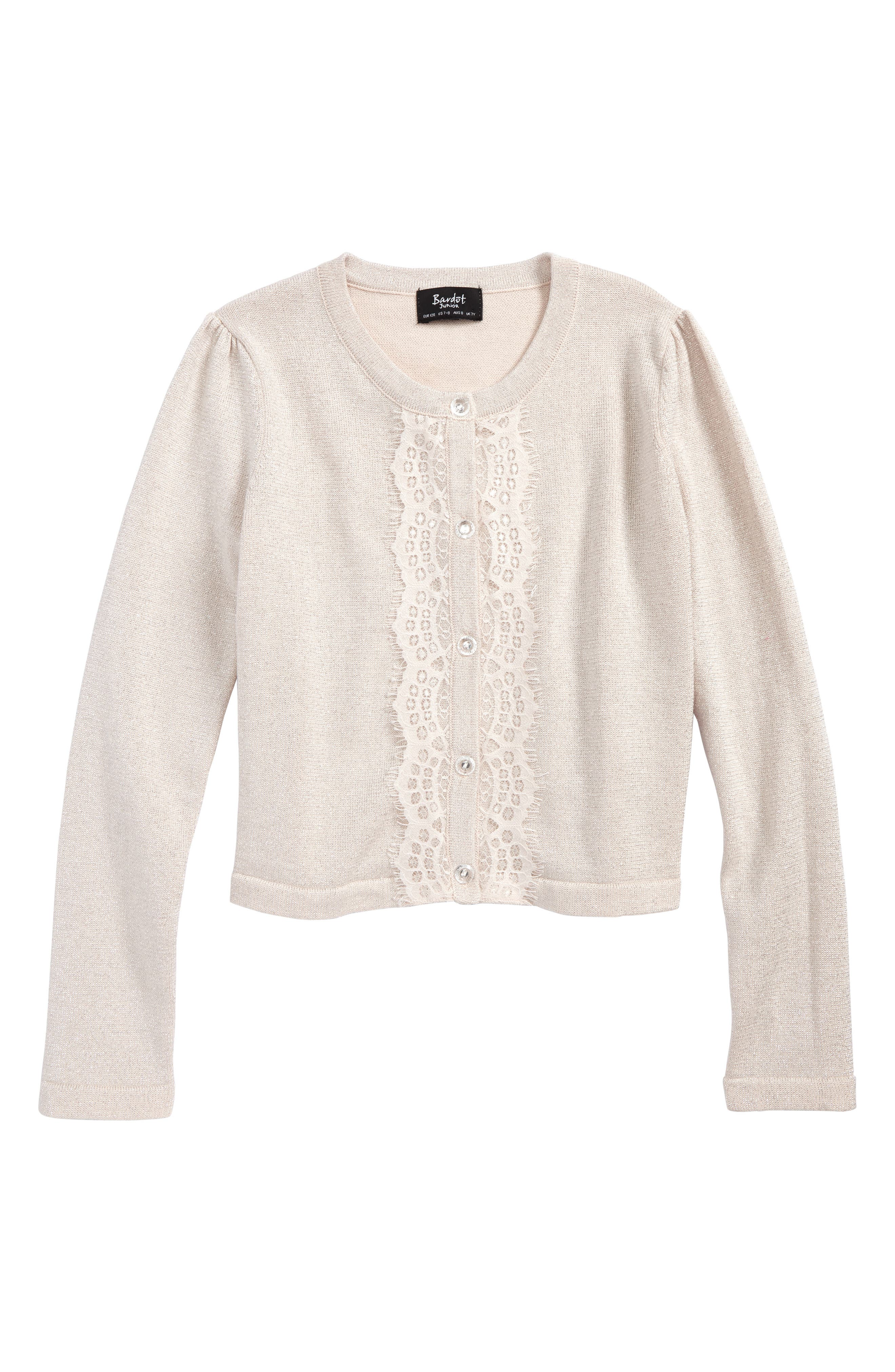 Lace Cardigan,                         Main,                         color, Pink