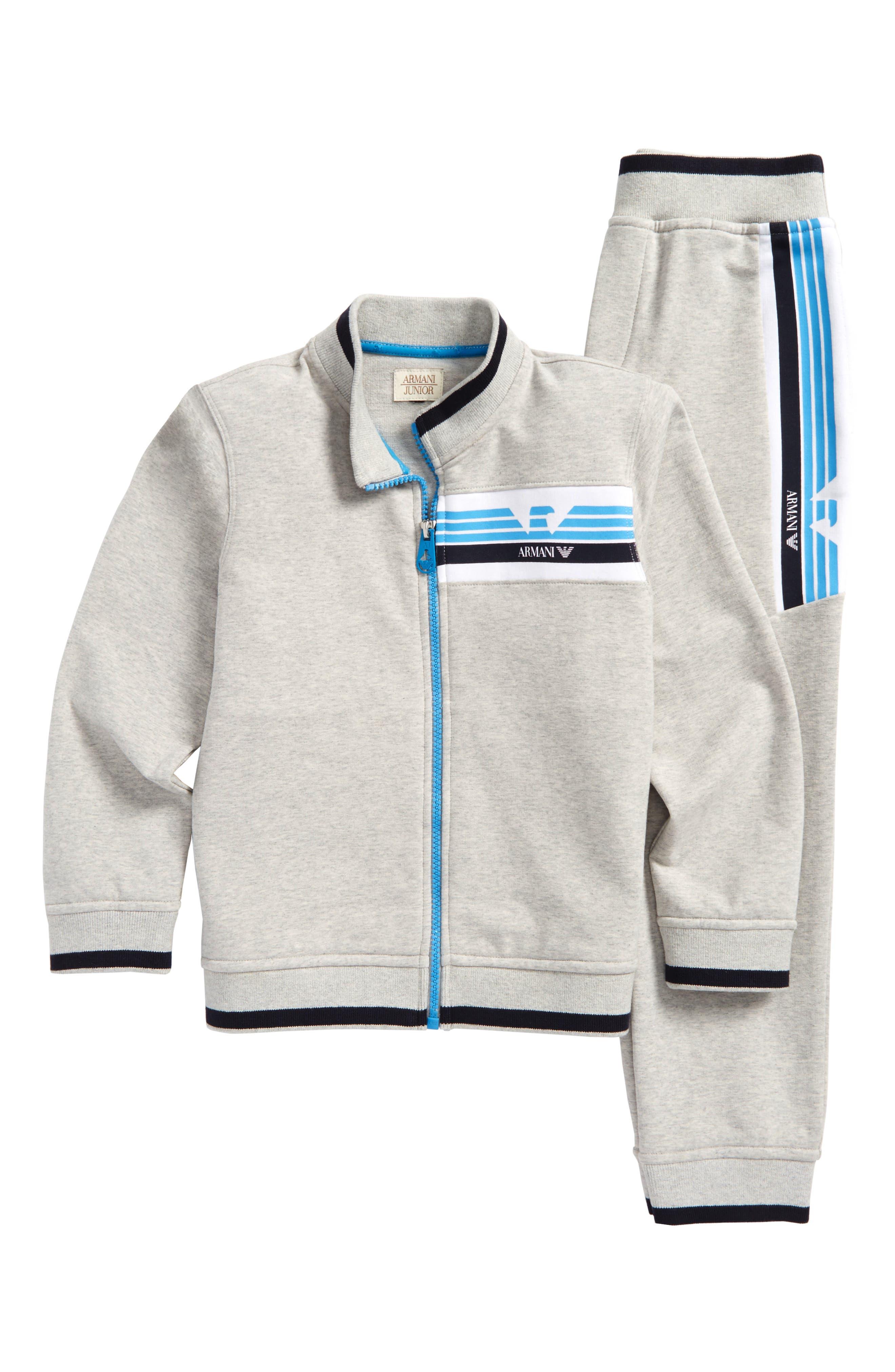 Logo Jacket & Track Pants Set,                             Main thumbnail 1, color,                             Gray