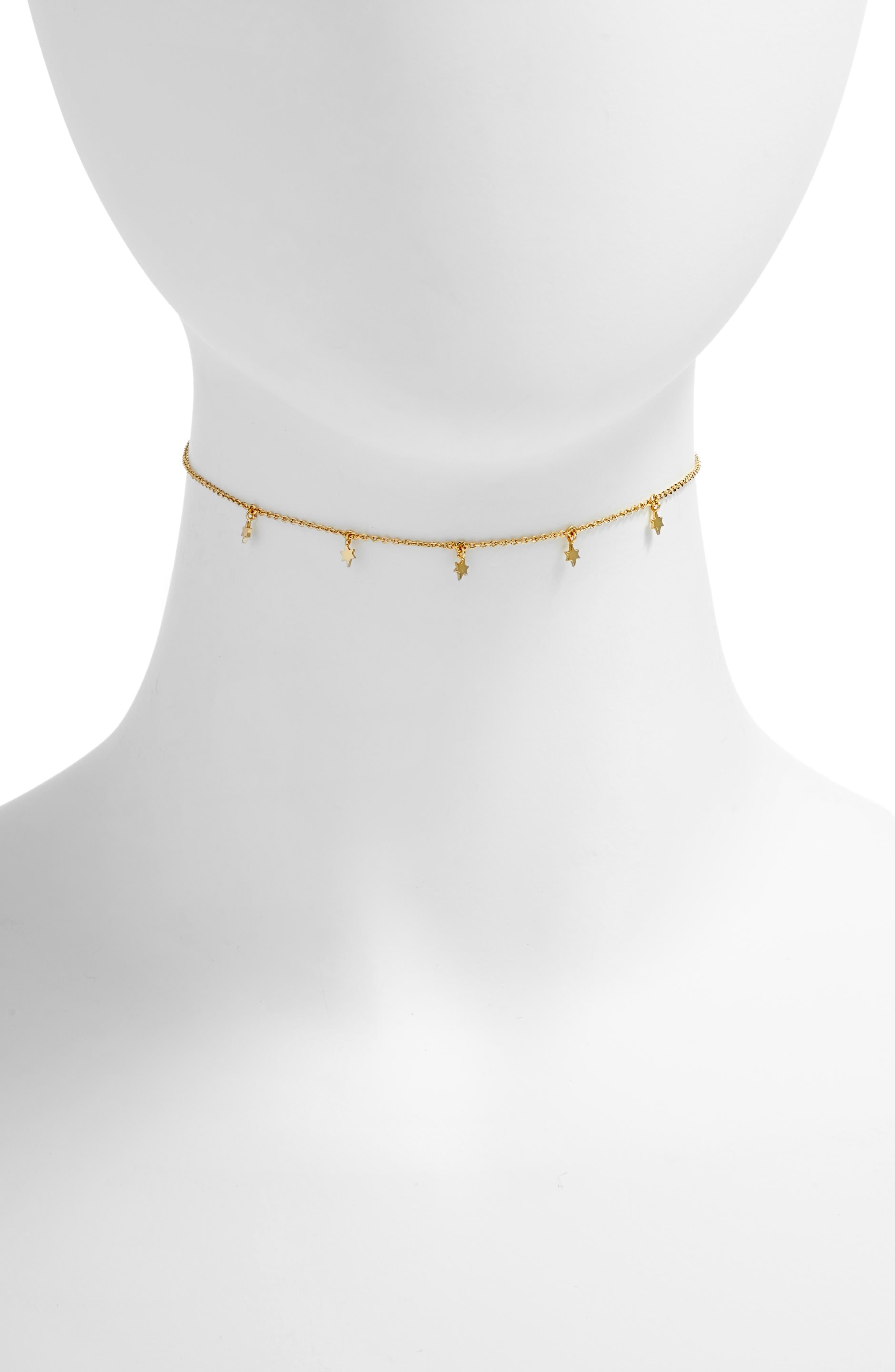 Josie Choker Necklace,                             Main thumbnail 1, color,                             Gold