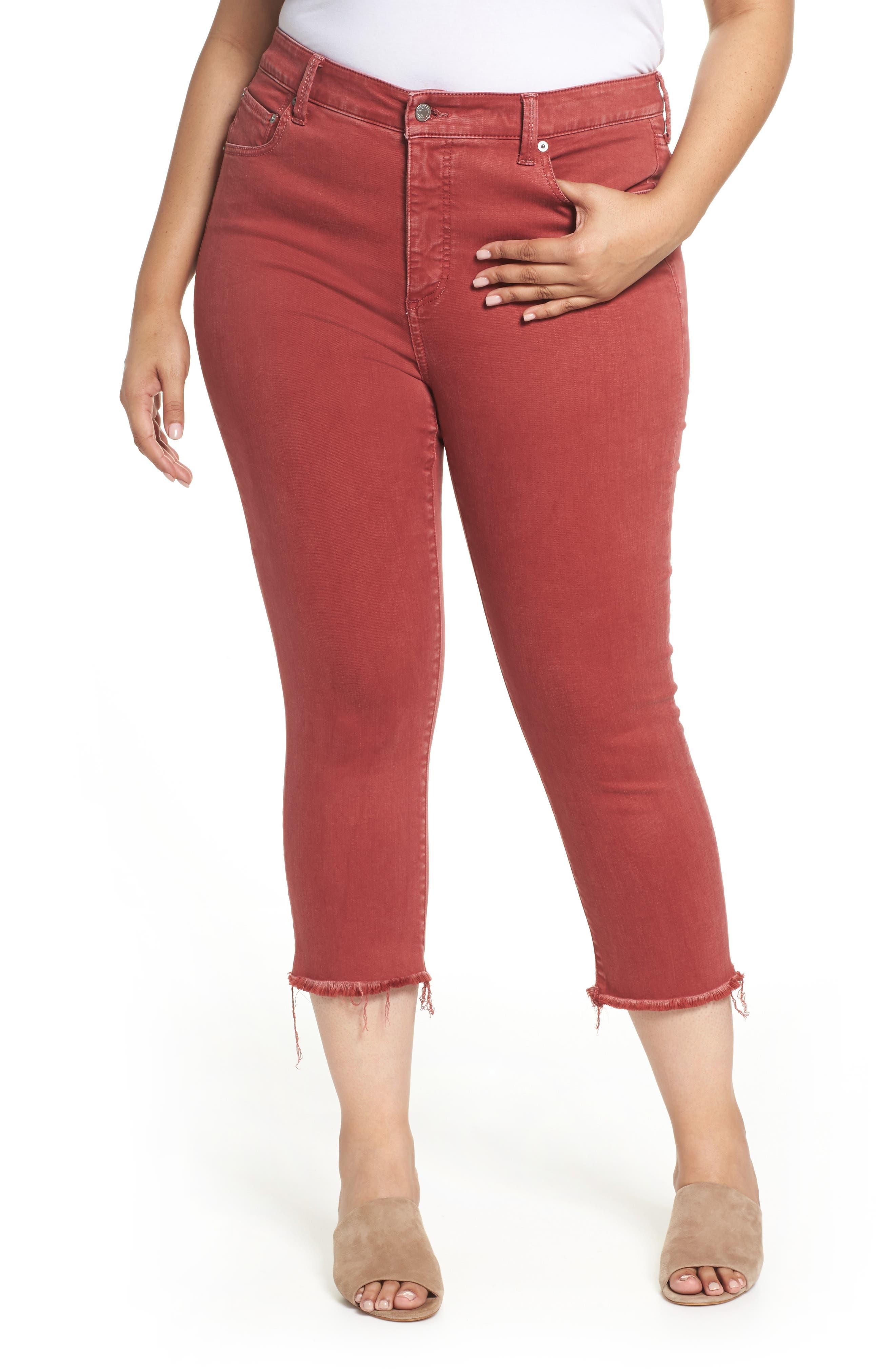 Emma Crop Jeans,                         Main,                         color, La Cara