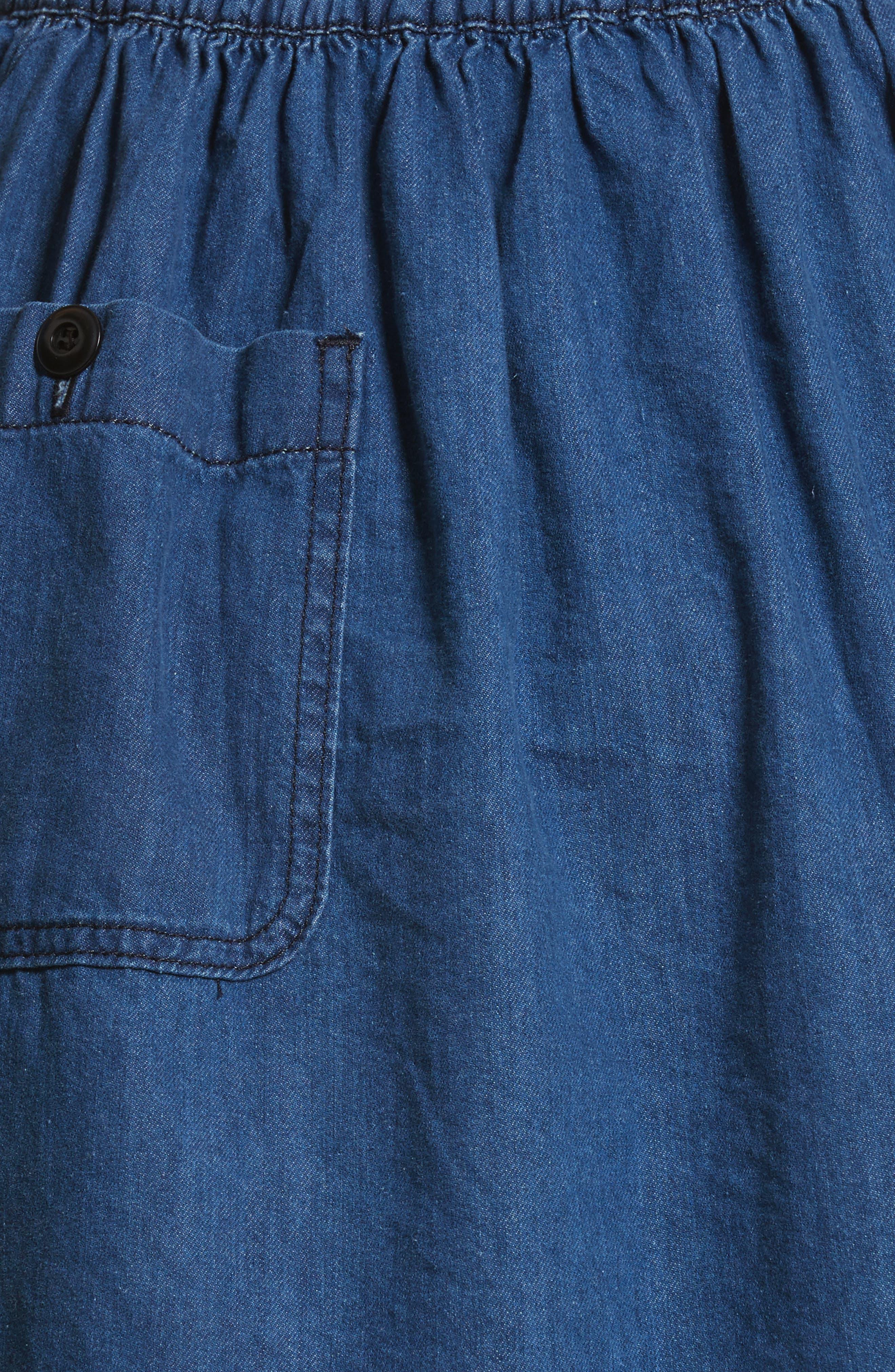 Alternate Image 5  - The Great Court Denim Skirt