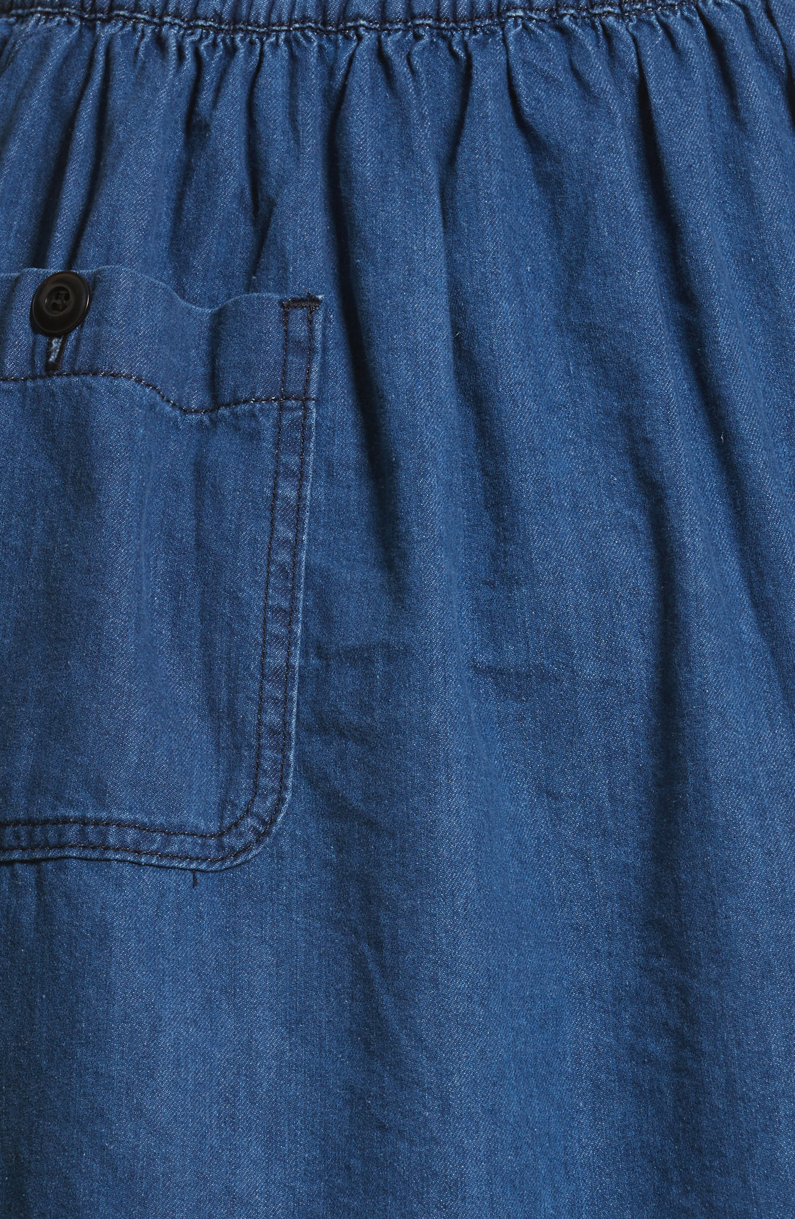 The Great Court Denim Skirt,                             Alternate thumbnail 5, color,                             Vibrant Blue Wash
