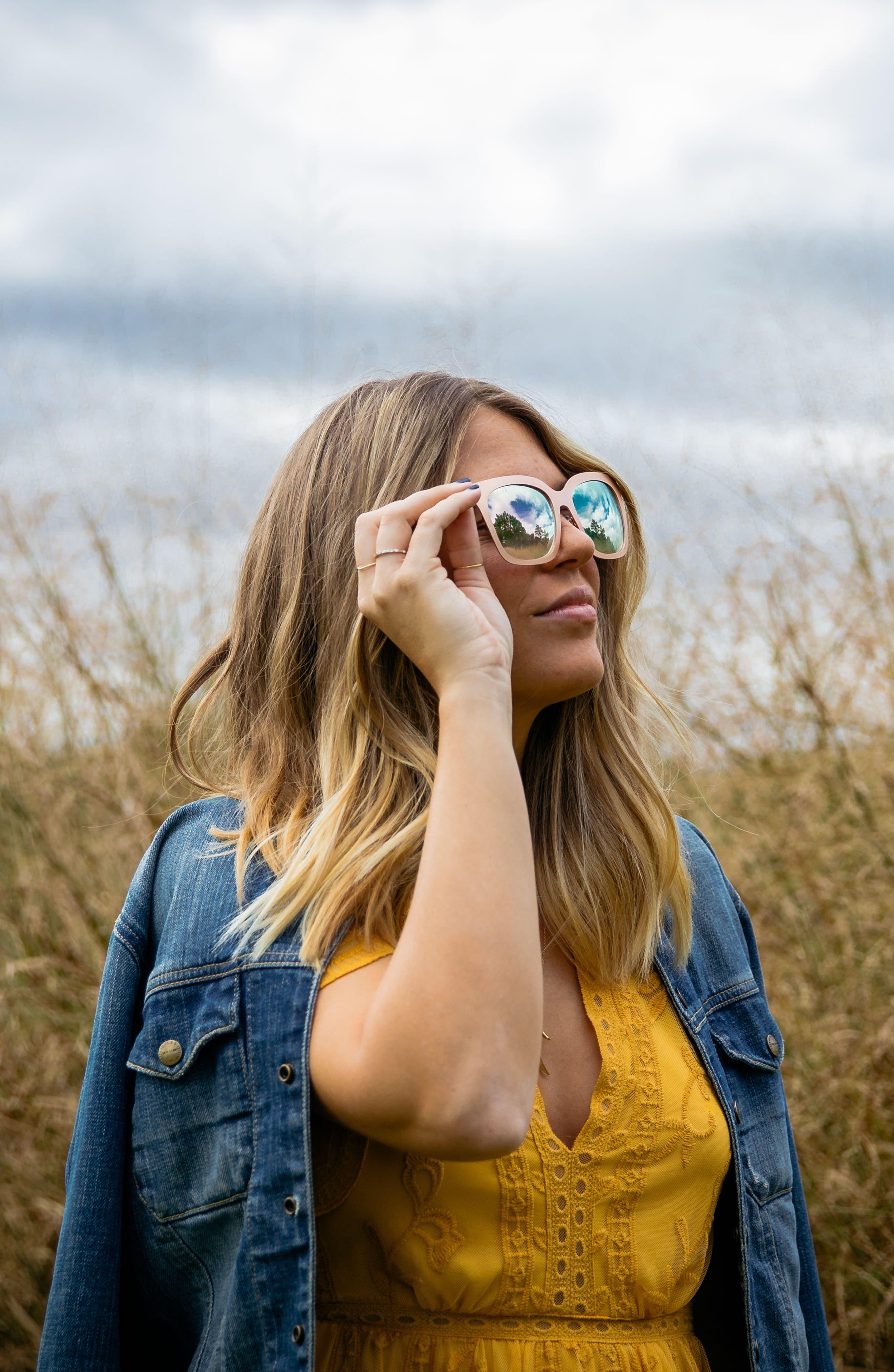x Lauren Akins Ella 53mm Sunglasses,                             Alternate thumbnail 2, color,                             Rose Gold/ Pink