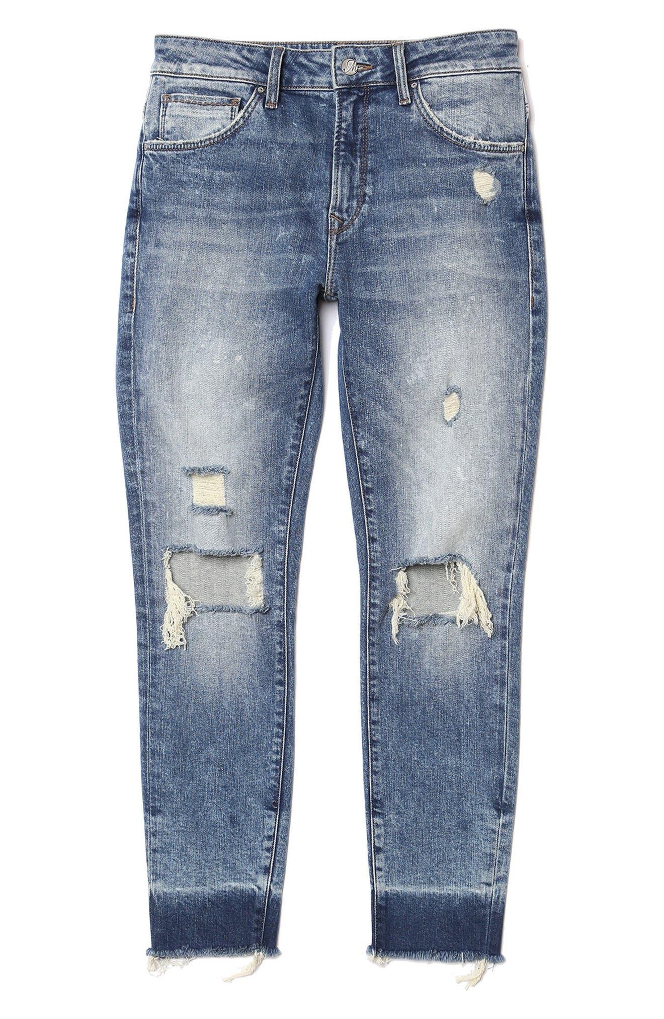 Tess Super Skinny Jeans,                             Alternate thumbnail 5, color,                             Ripped Vintage