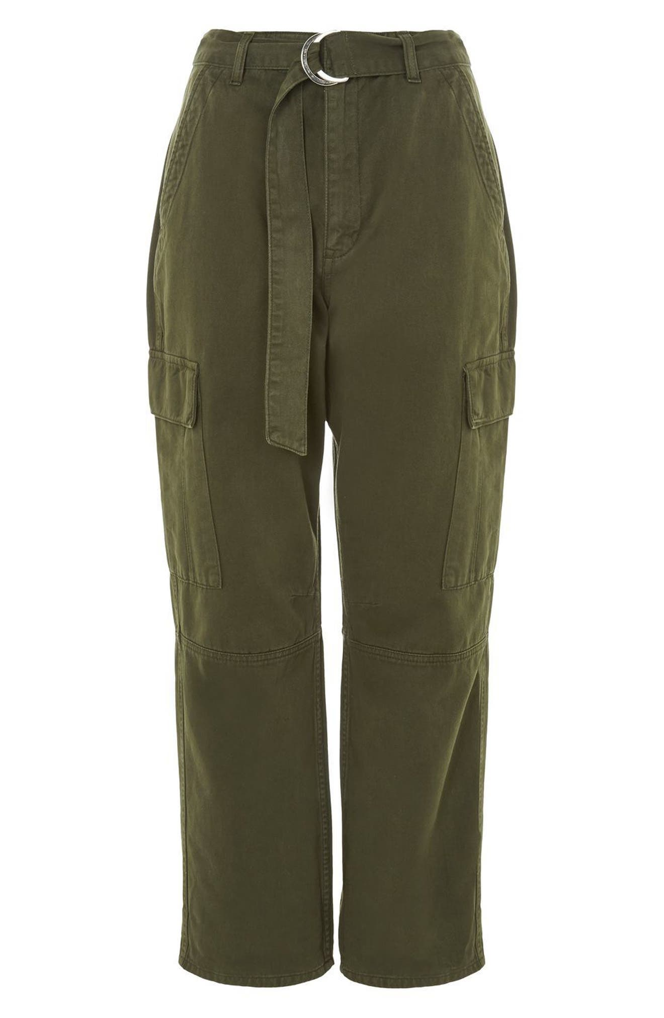 Combat Pocket Utility Trousers,                             Alternate thumbnail 4, color,                             Olive