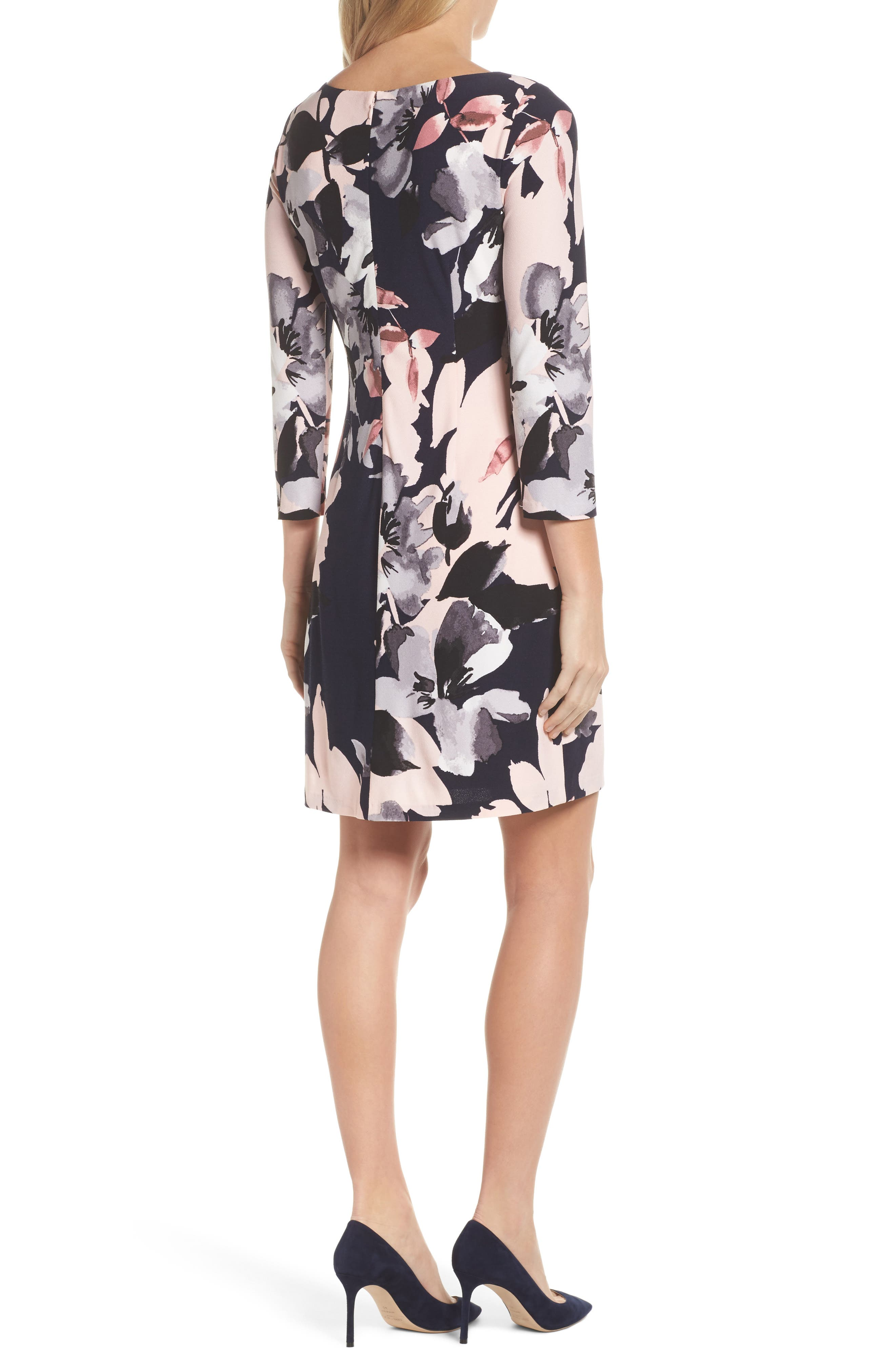 Alternate Image 2  - Vince Camuto Crepe Shift Dress