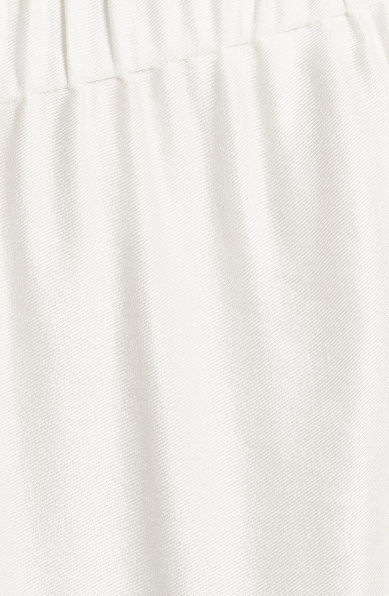 Ruched Drape Skirt,                             Alternate thumbnail 6, color,                             White Pepper