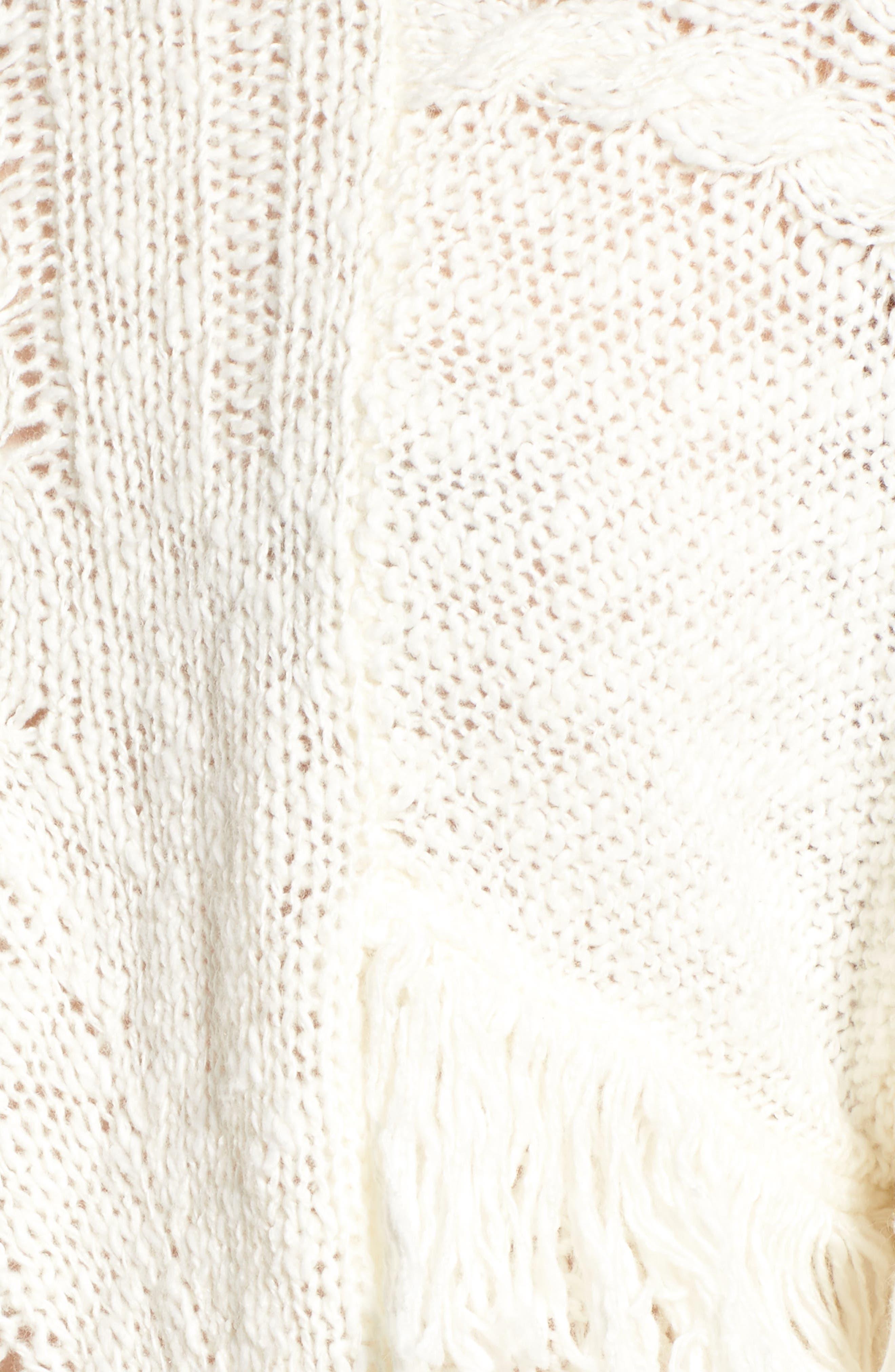 Mix Stitch Sweater,                             Alternate thumbnail 4, color,                             Ivory Egret