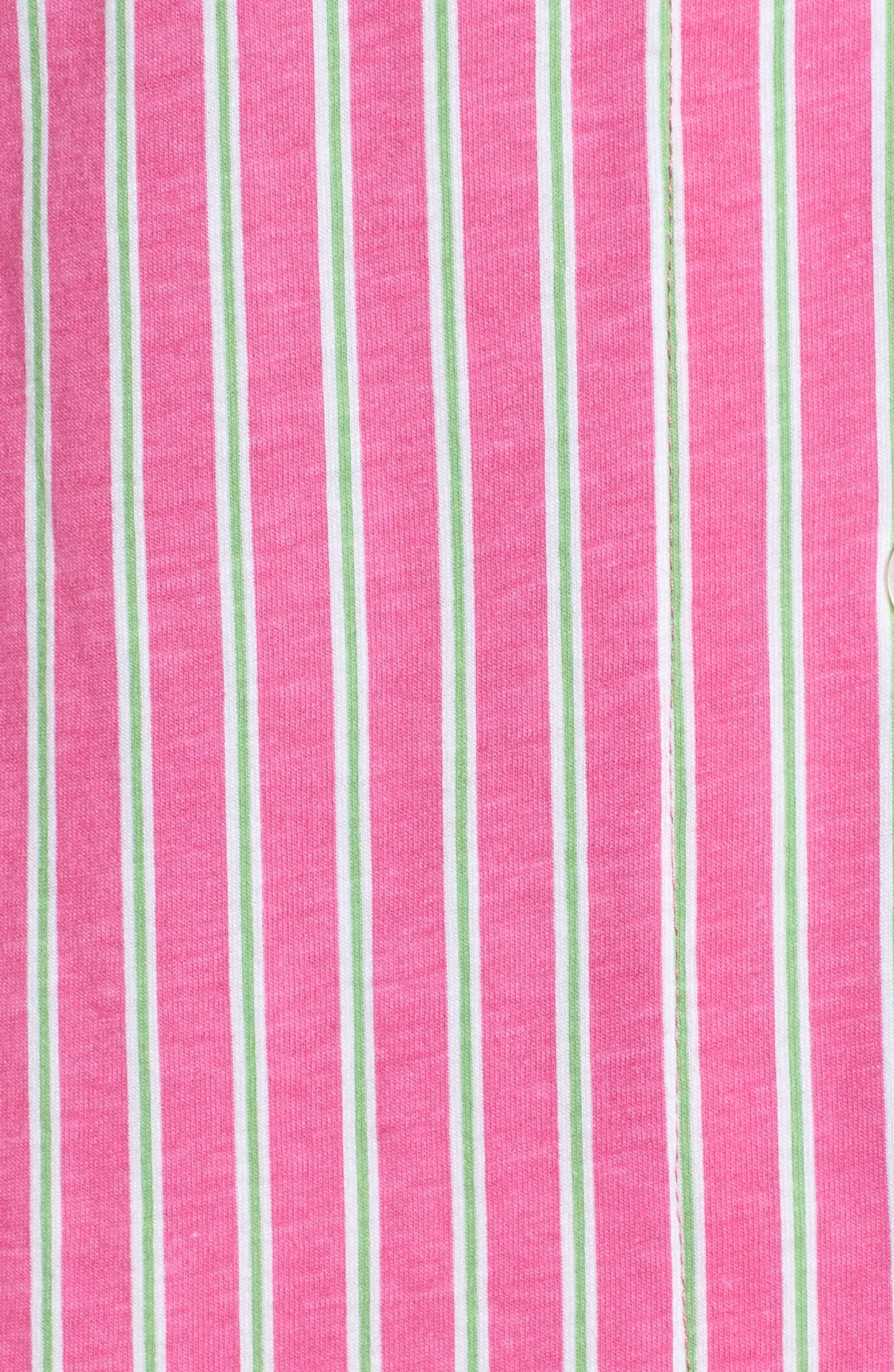 Bermuda Pajamas,                             Alternate thumbnail 6, color,                             Pink Stripe