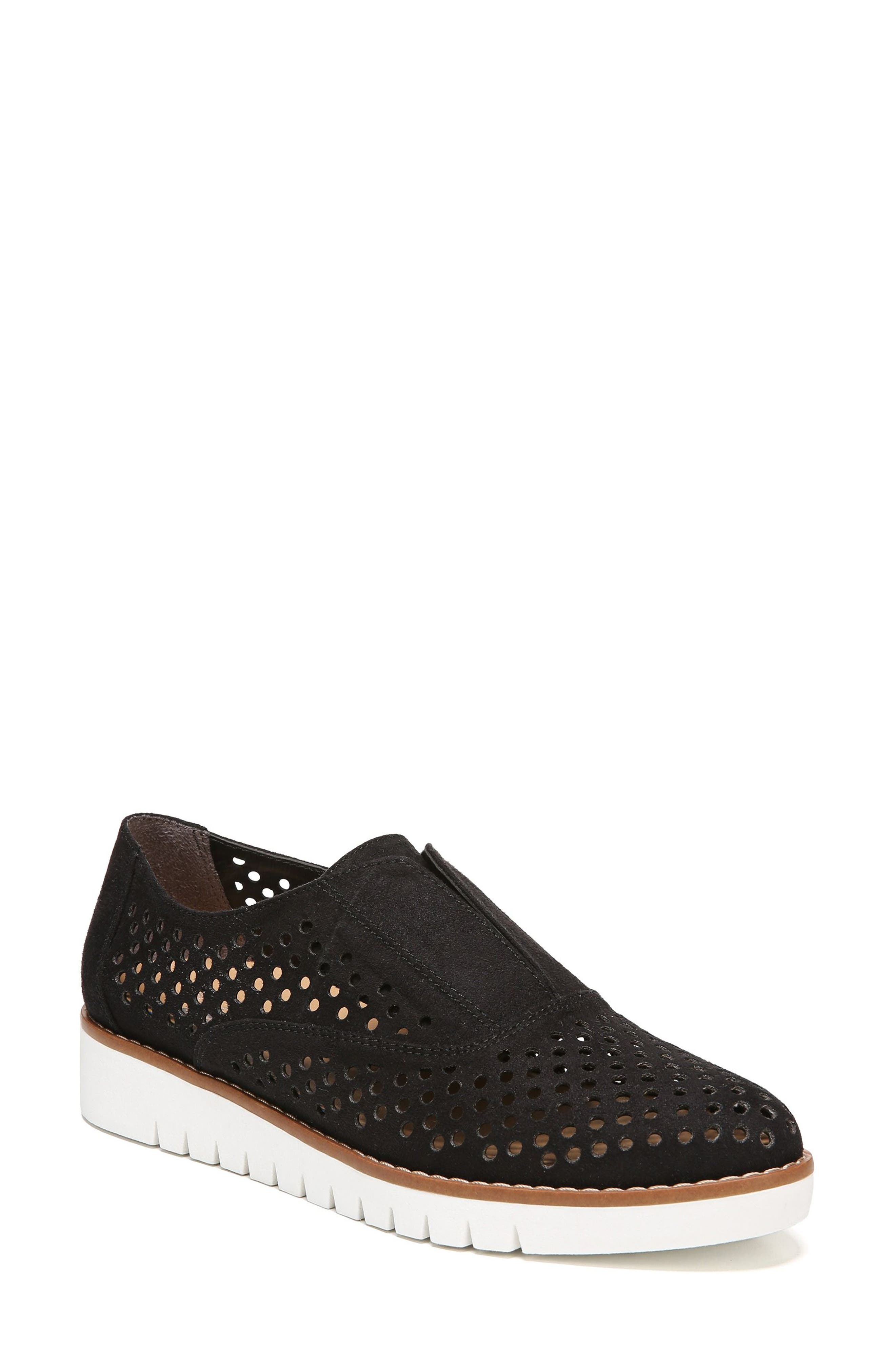 Improve Slip-On Sneaker,                         Main,                         color, Black Fabric