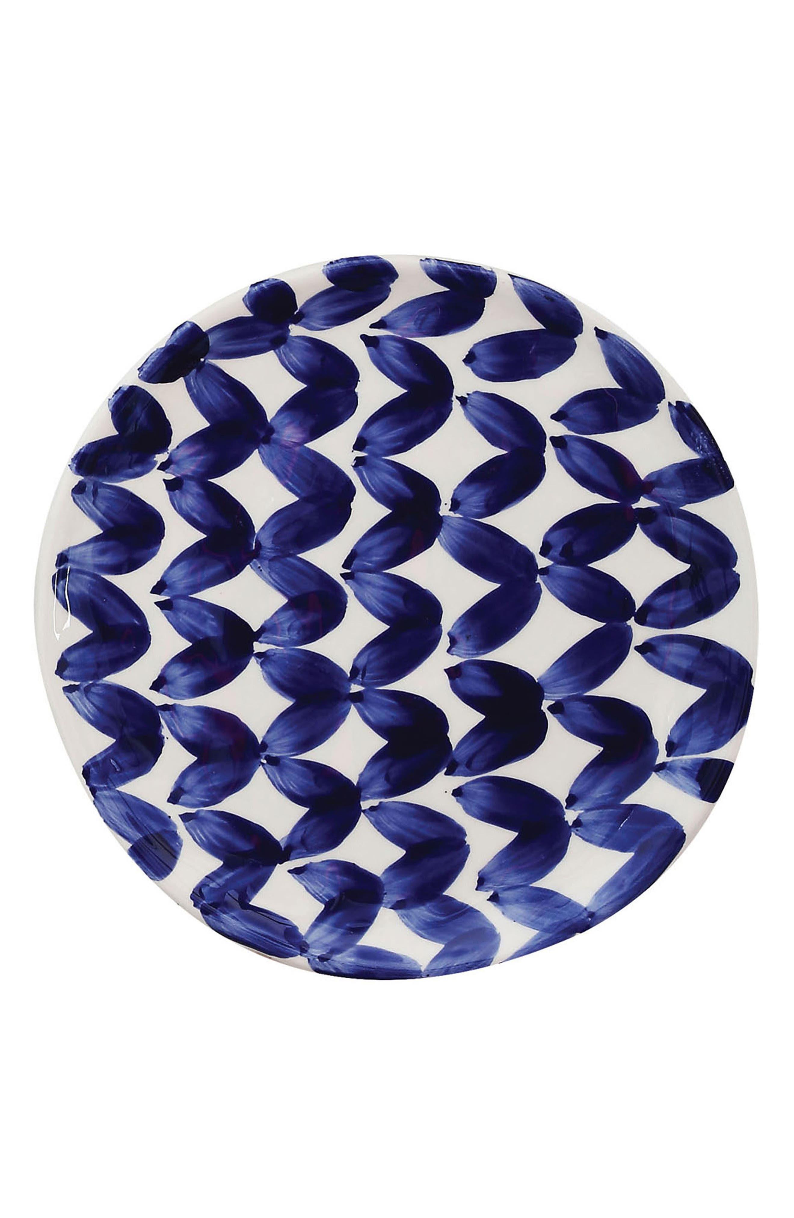 Blue & White Plate,                         Main,                         color, Blue